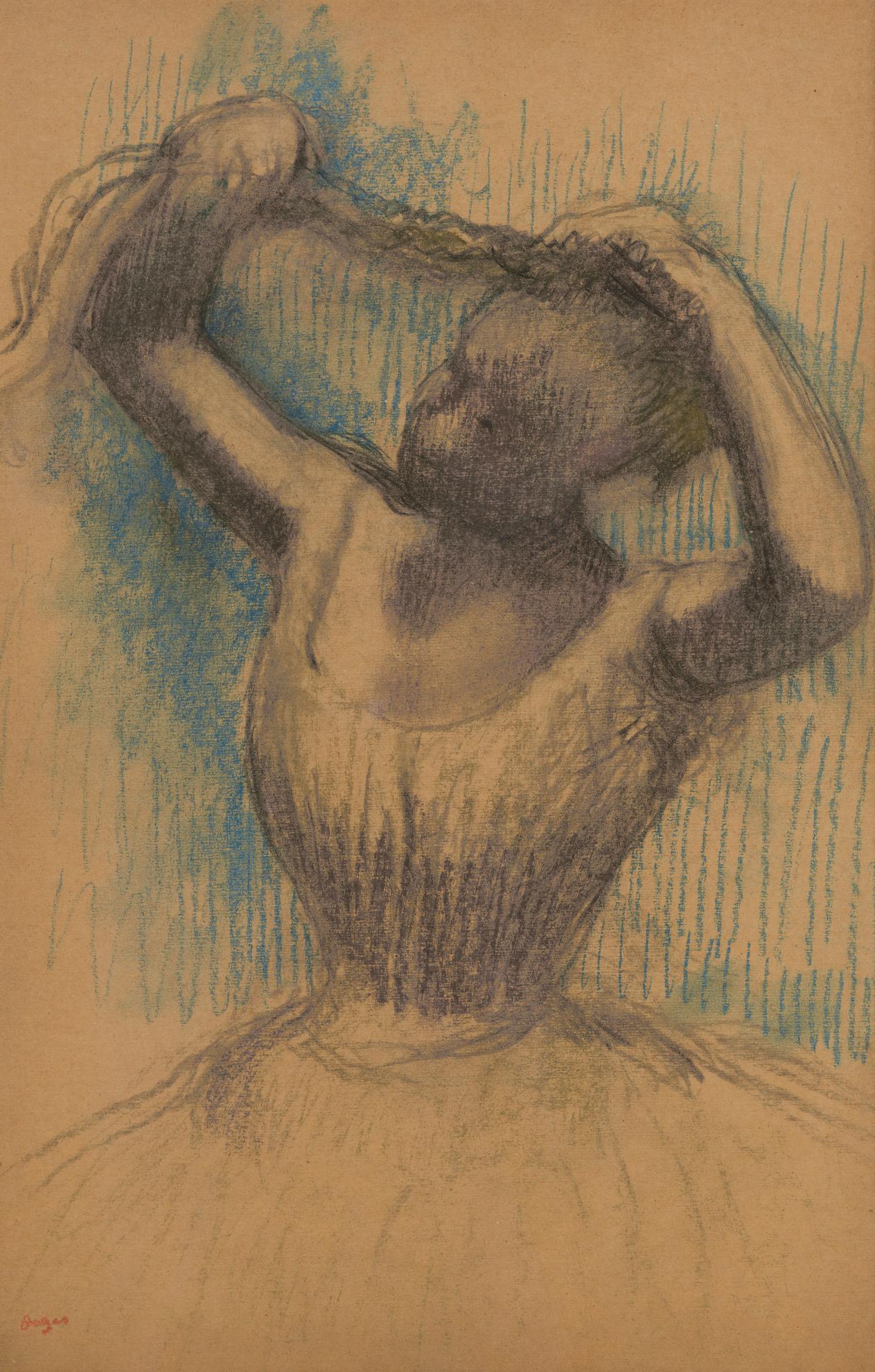 Edgar Degas-Danseuse Rajustant Sa Coiffure-1900