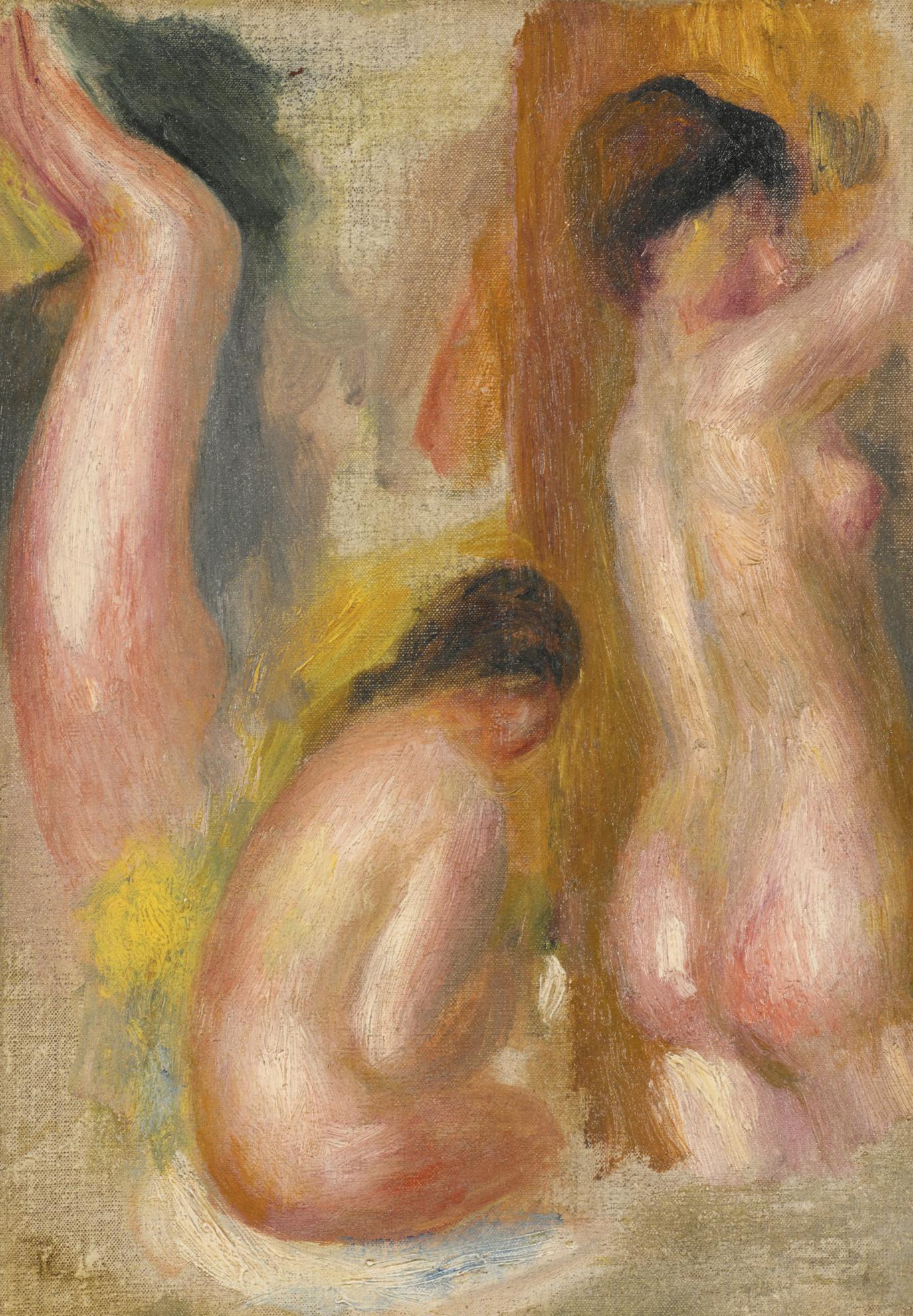 Pierre-Auguste Renoir-Etude De Nus - Fragment-1895