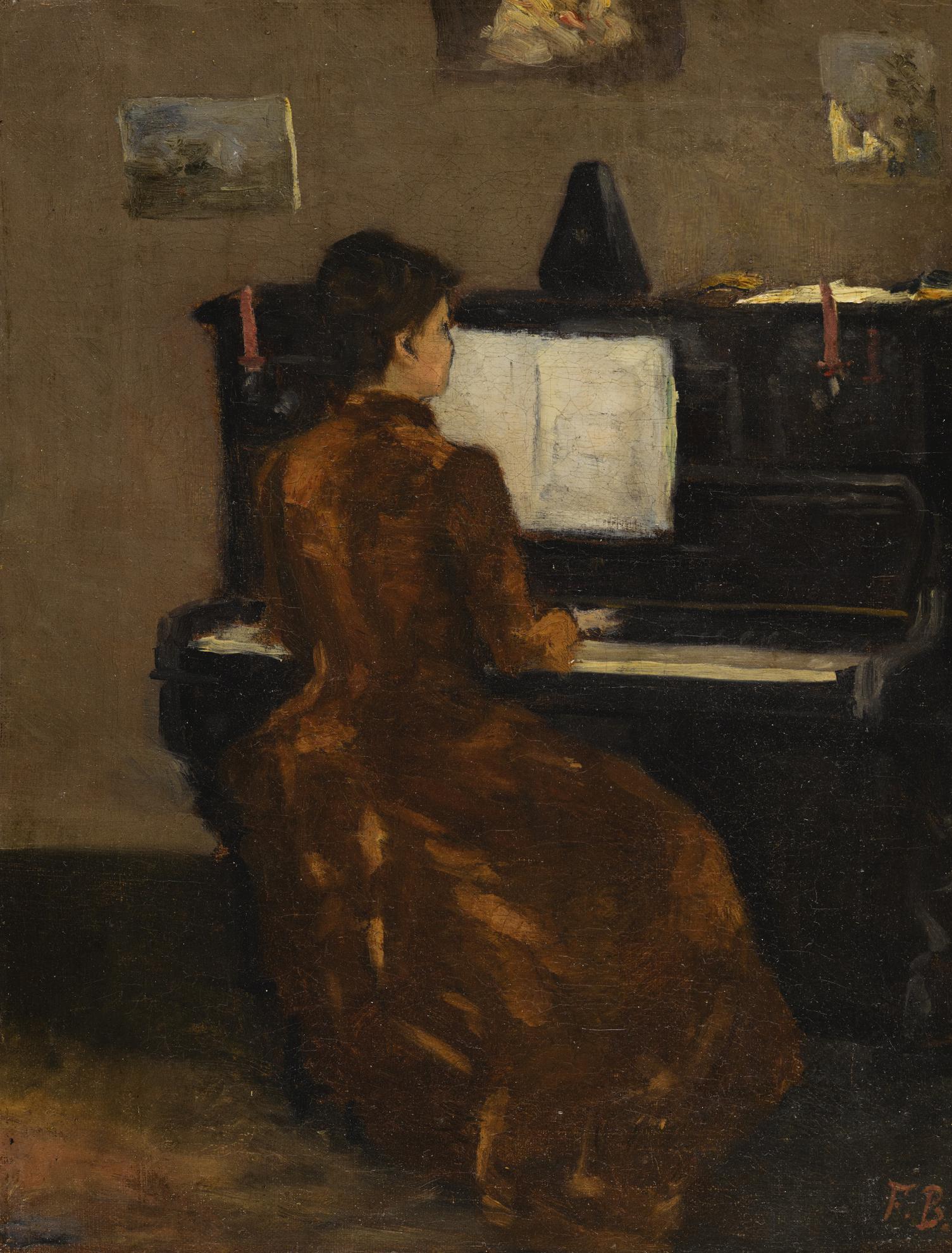 Frederic Bazille-Jeune Fille Au Piano-1867