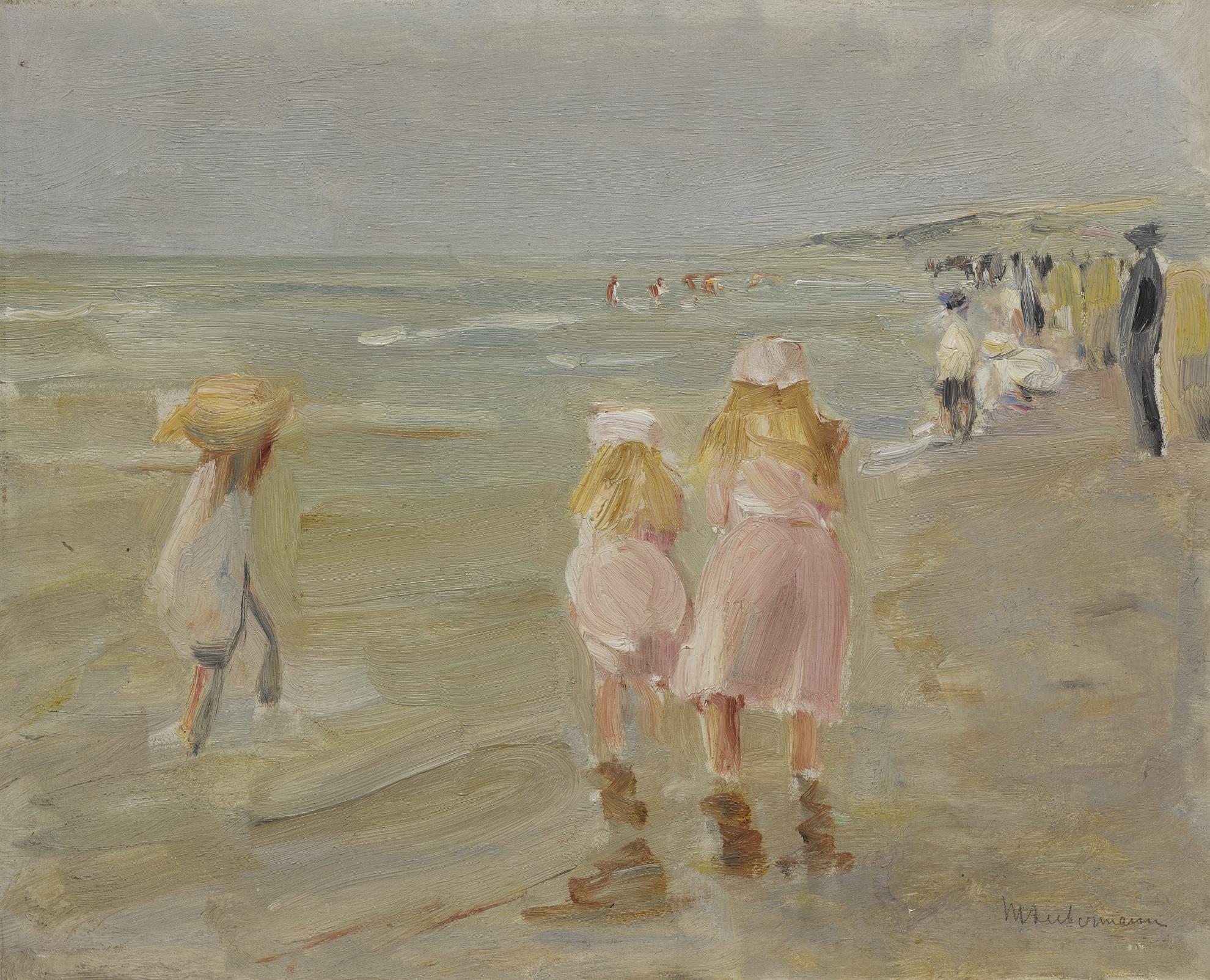 Max Liebermann-Am Strand Von Scheveningen (Beach In Scheveningen)-1898