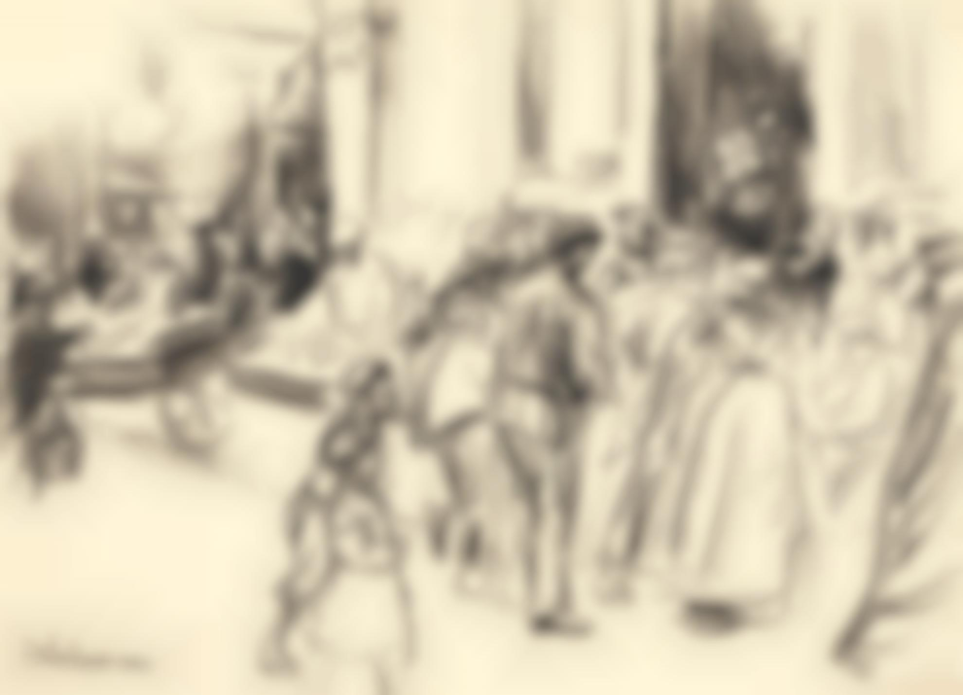 Max Liebermann-Strassenszene (Street Scene)-1907