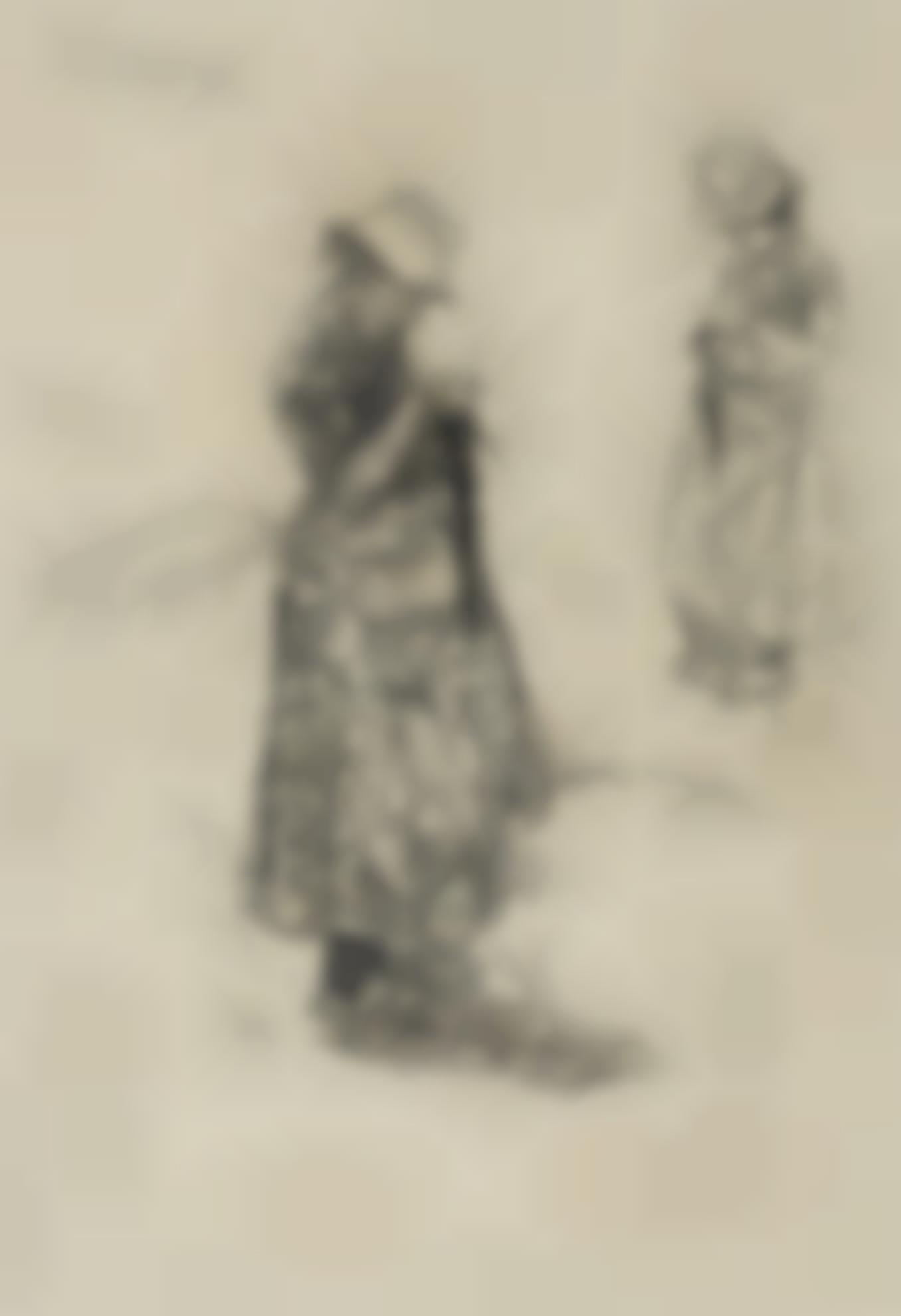Max Liebermann-Strickende Madchen (Girls Knitting)-1895