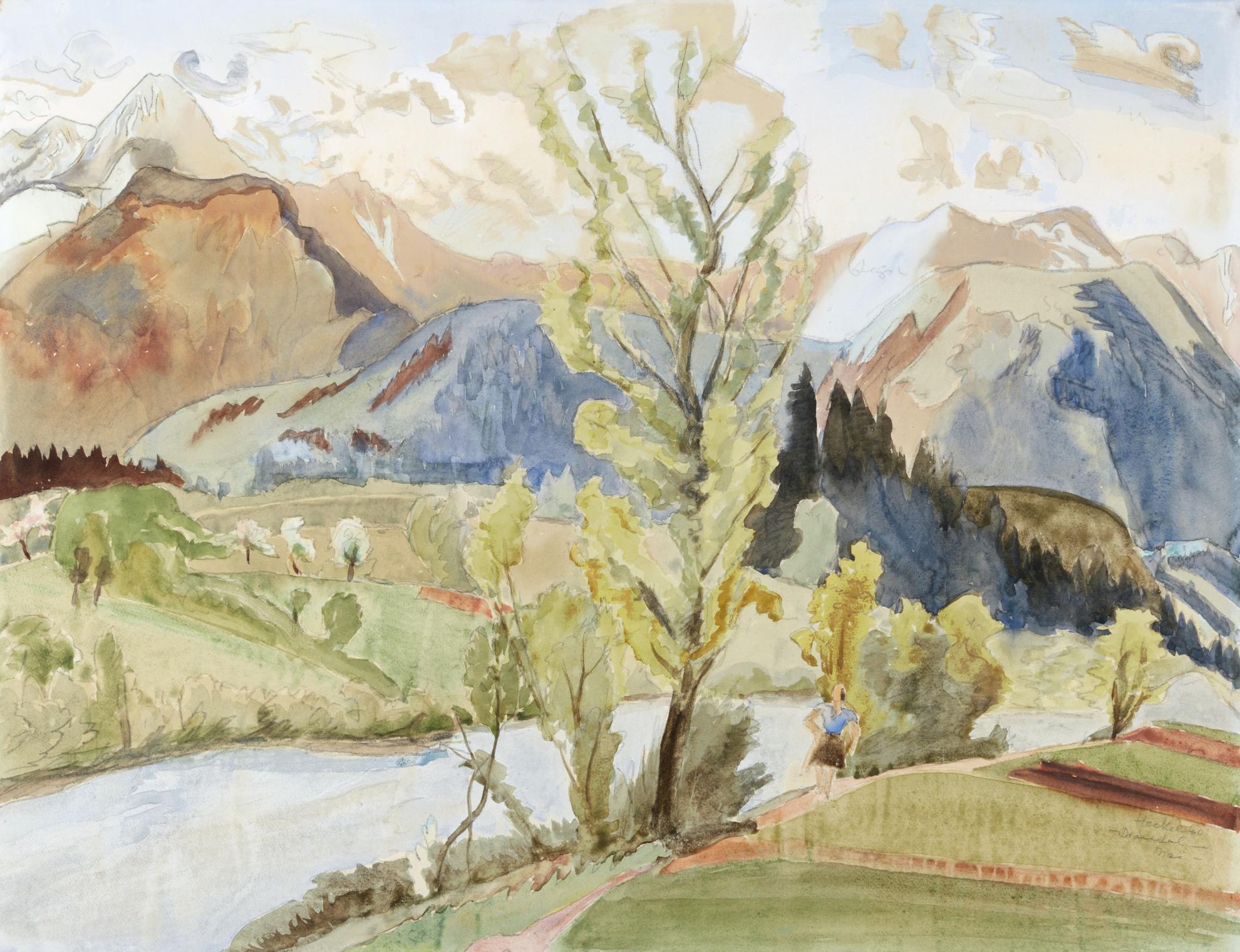 Erich Heckel-Drautal Im Mai (Drau Valley In May)-1940