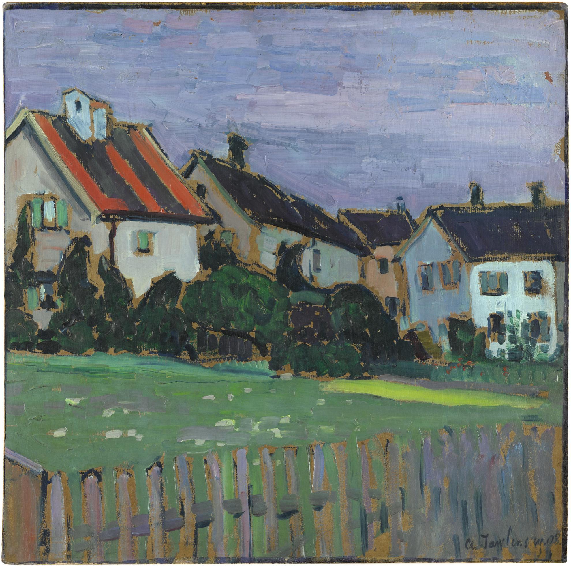 Alexej von Jawlensky-Hauser Mit Vorgarten (Houses With Front Gardens)-1908