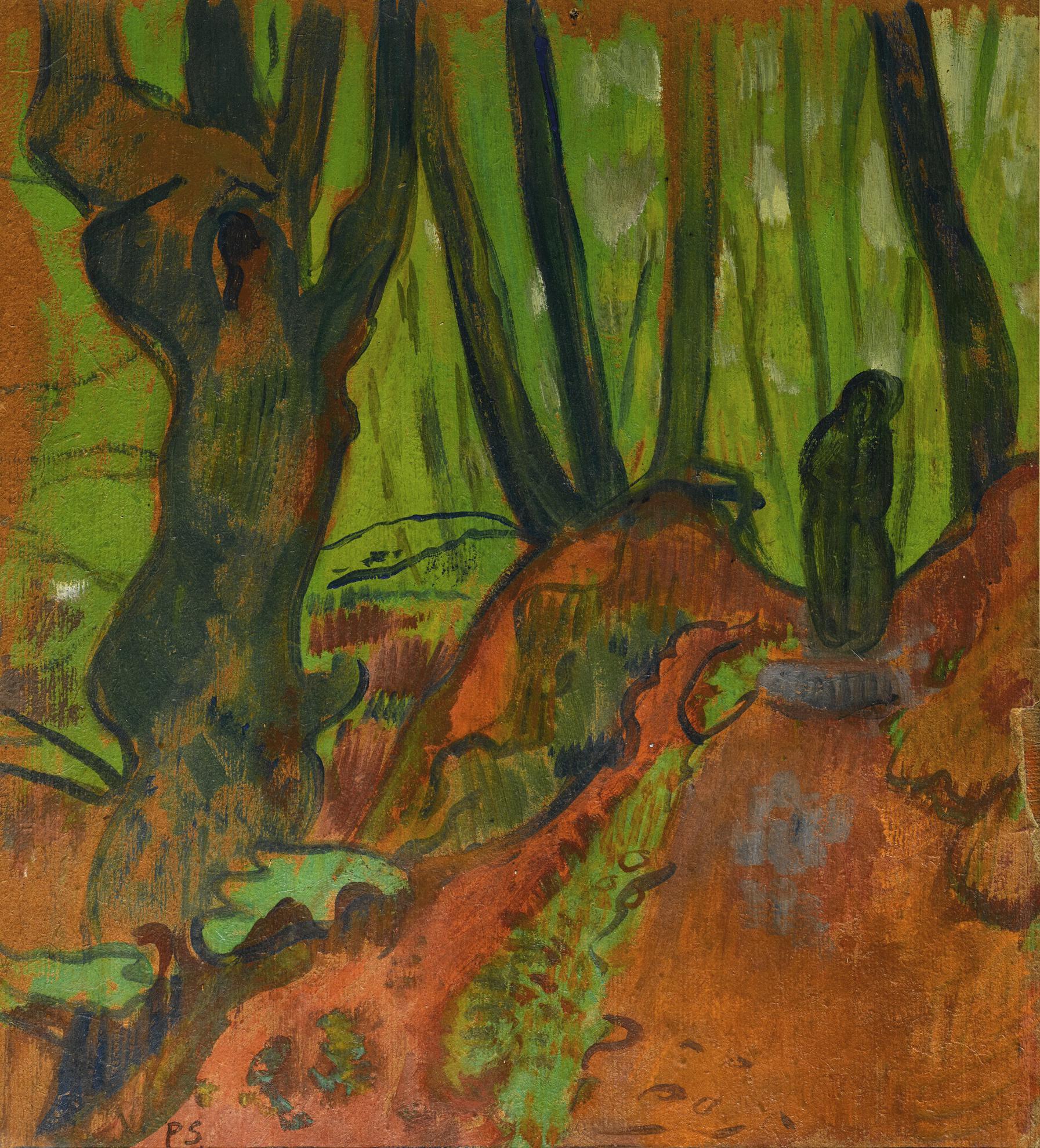 Paul Serusier-Sous-Bois A Huelgoat - Recto Personnages - Verso-1893