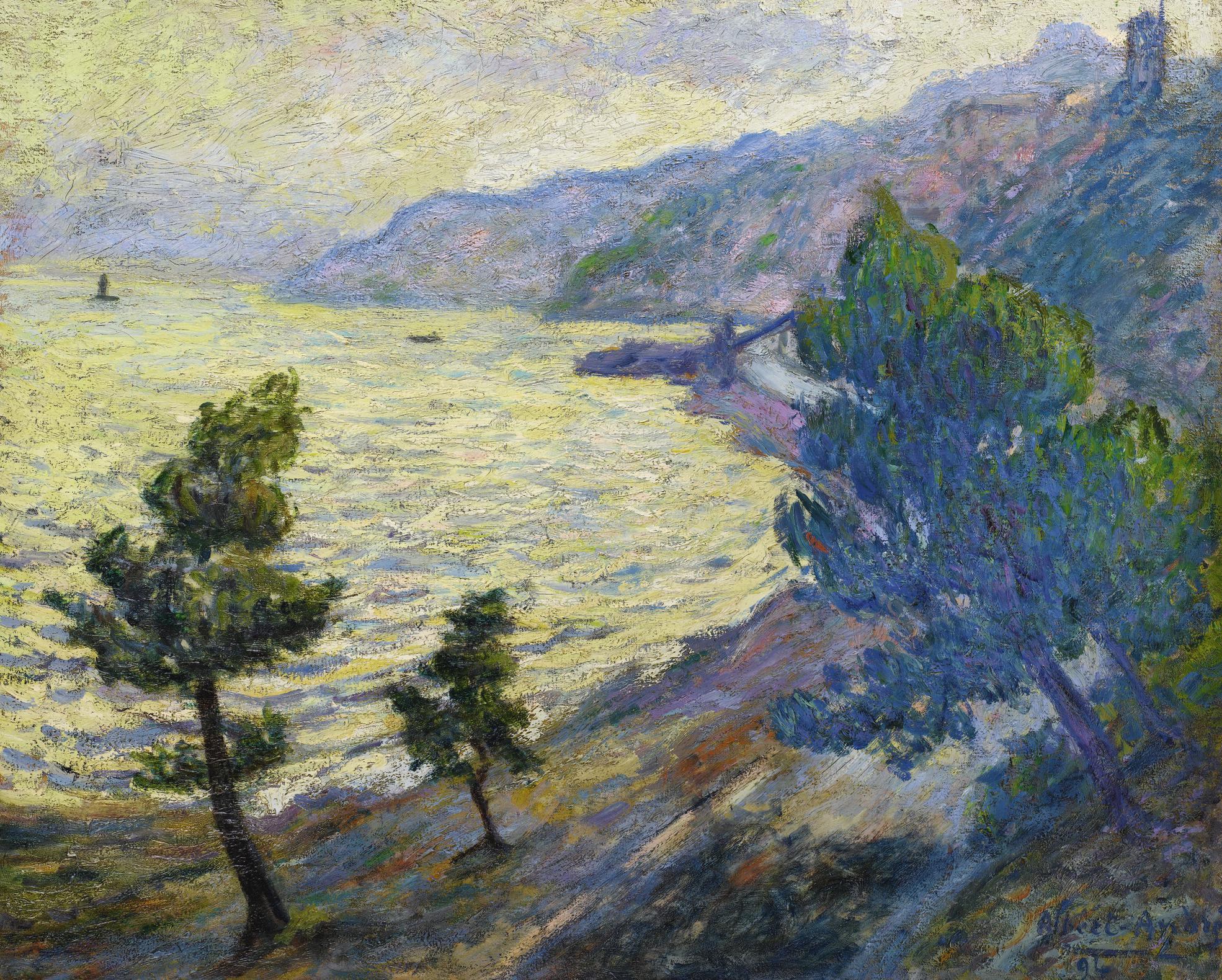 Albert Andre-Lestaque, Route De La Corniche, Le Soir. Marine-1894