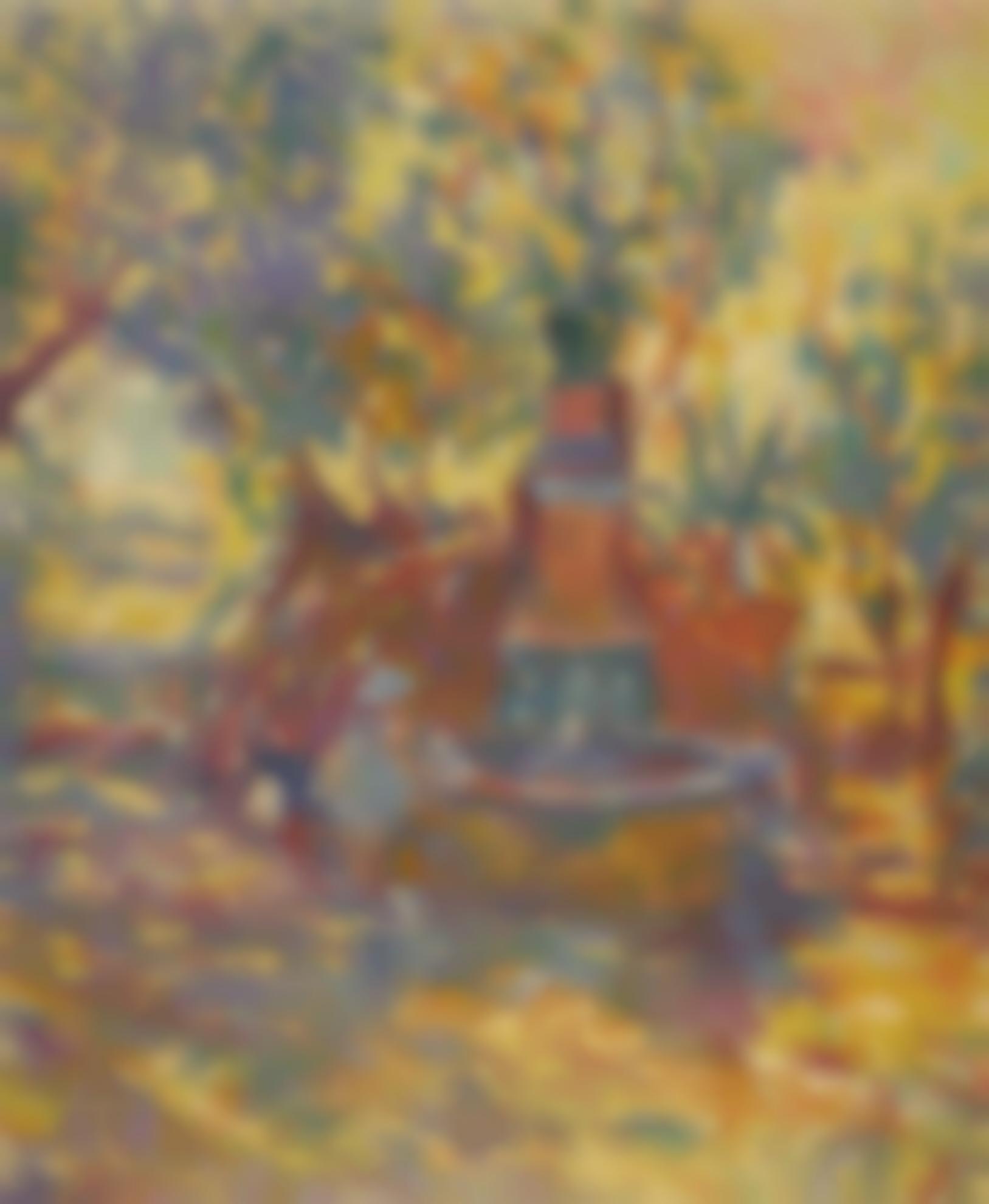 Henri Lebasque-Saint-Tropez, Fillettes A La Fontaine-1906