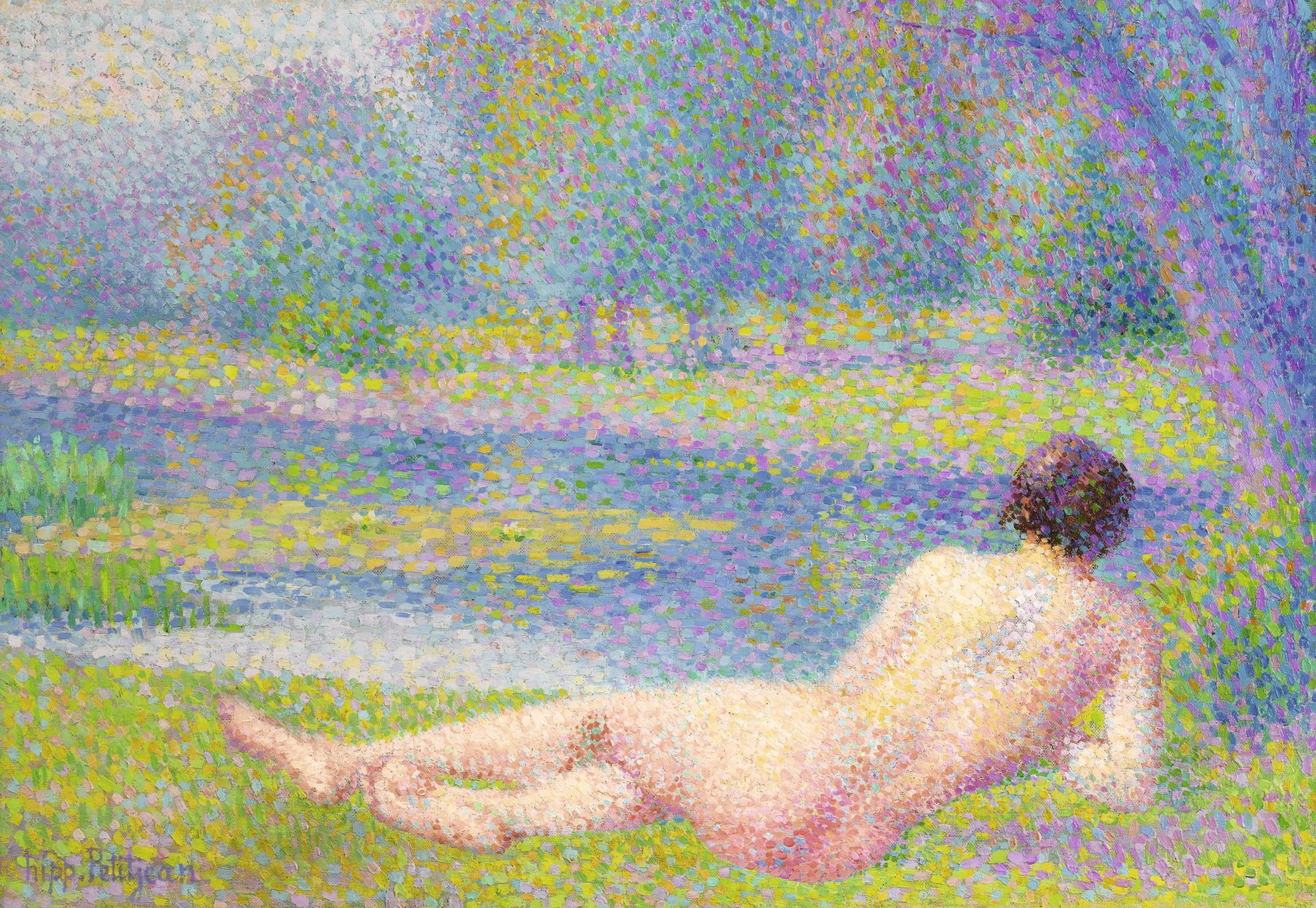 Hippolyte Petitjean-Femme Au Bord Du Lac-1925