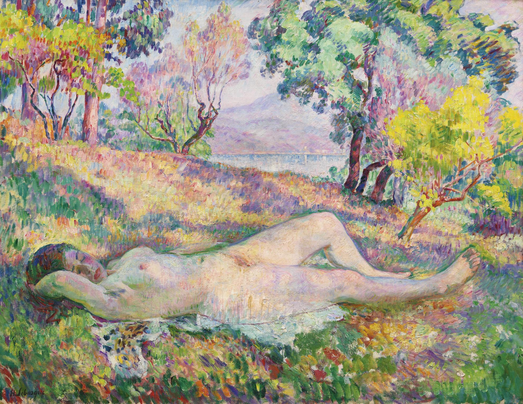 Henri Lebasque-La Sieste A Saint-Tropez-1906