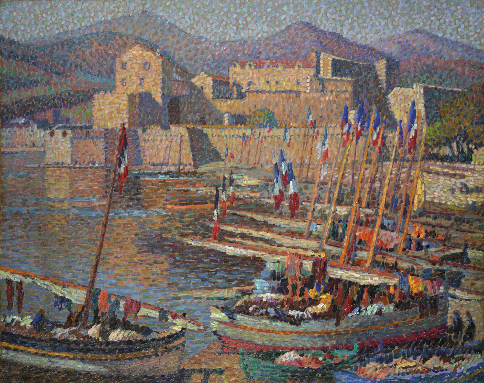 Henri Martin-Les Barques A Collioure Au Petit Matin-1920