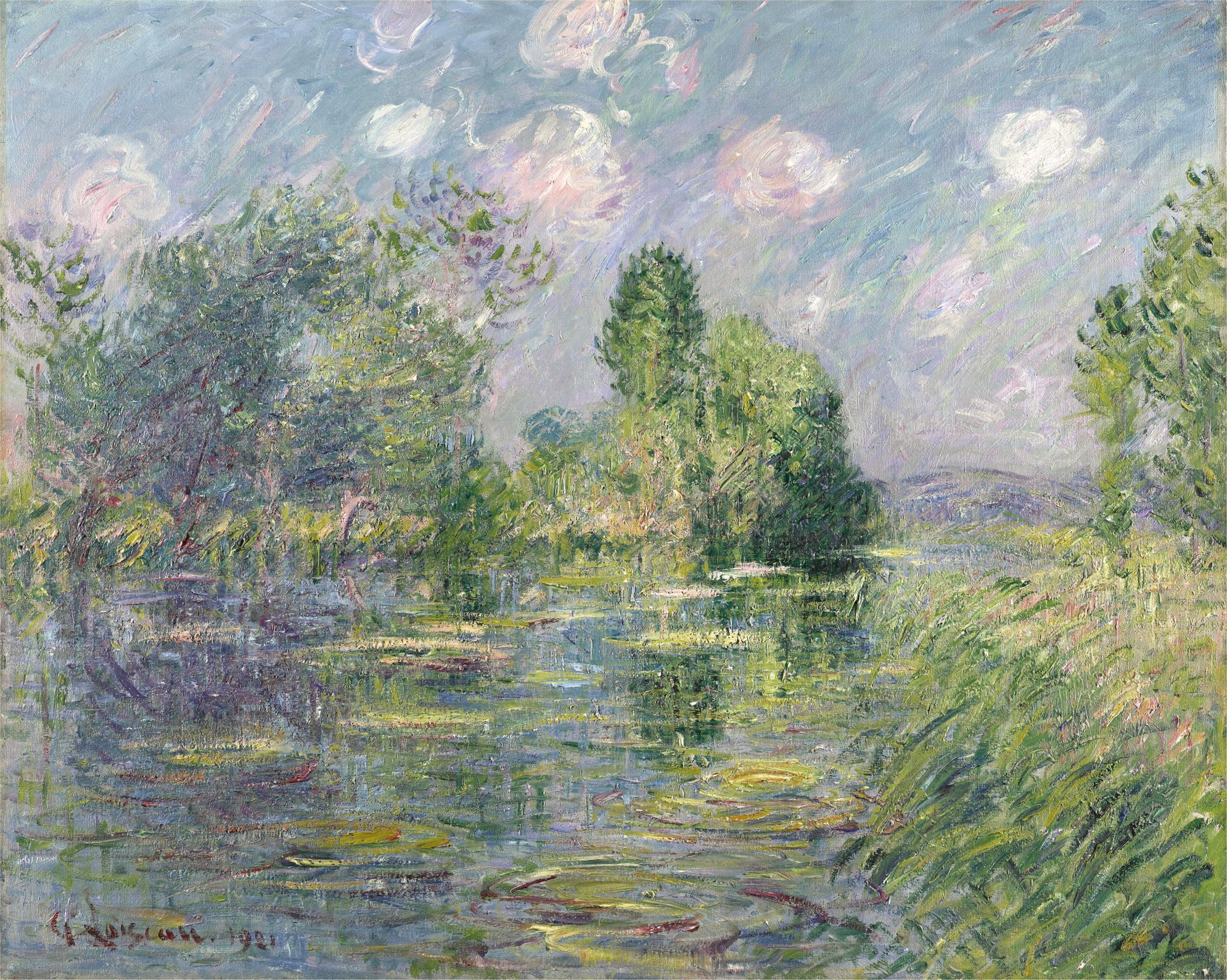 Gustave Loiseau-Riviere En Normandie (Eure)-1921