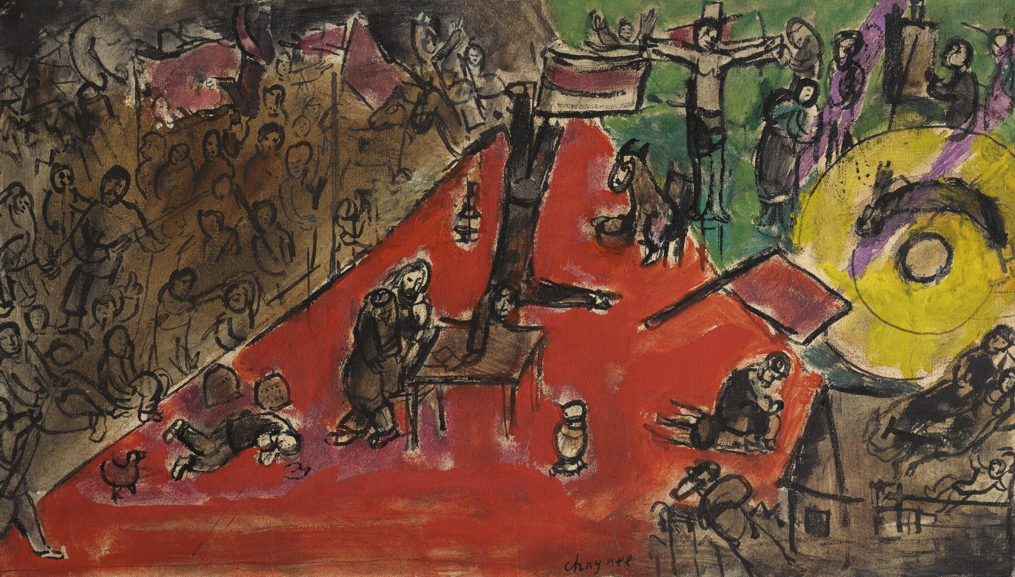 Marc Chagall-La Revolution (Esquisse)-1939