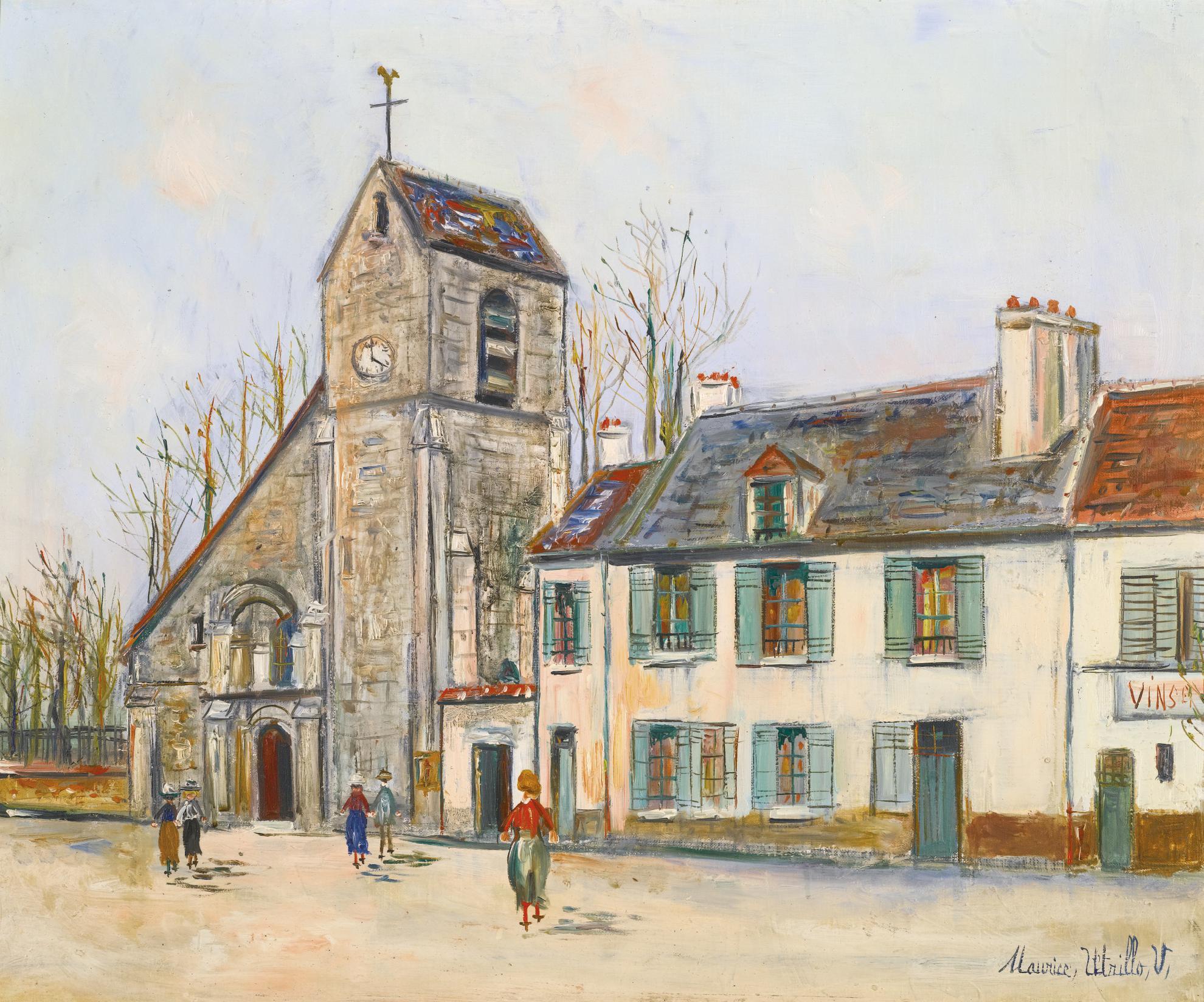Maurice Utrillo-Leglise De Villennes-Sur-Seine-1935