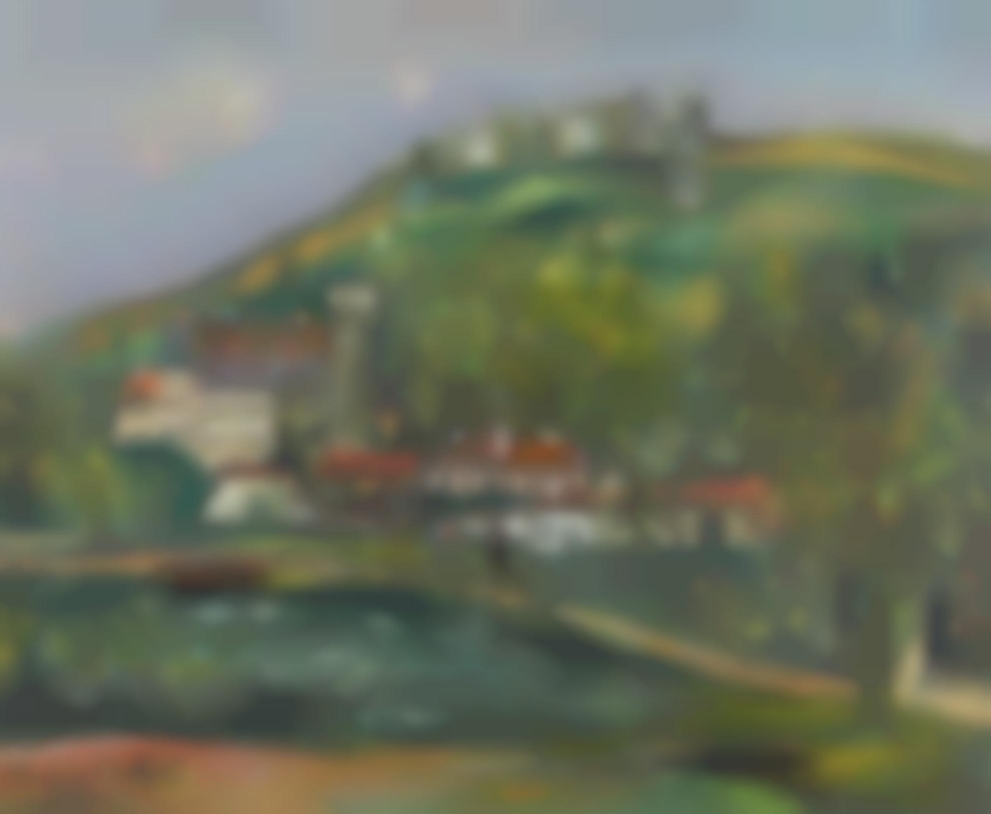 Maurice Utrillo-Le Chateau De Florac Et Les Ruines (Lozere)-1928