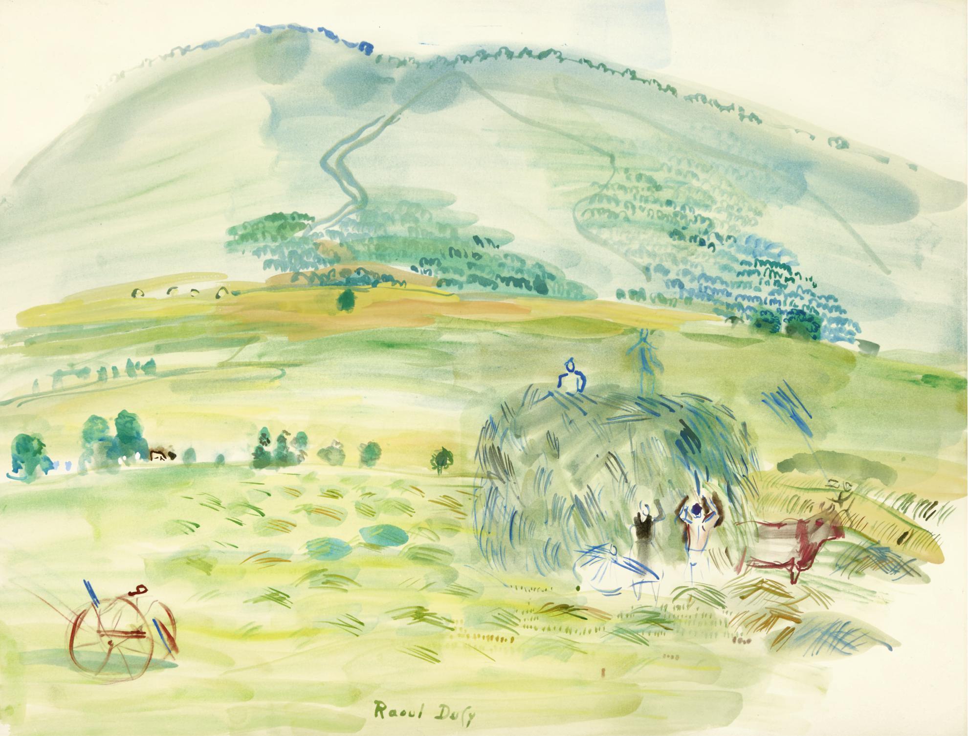 Raoul Dufy-La Fenaison-1948
