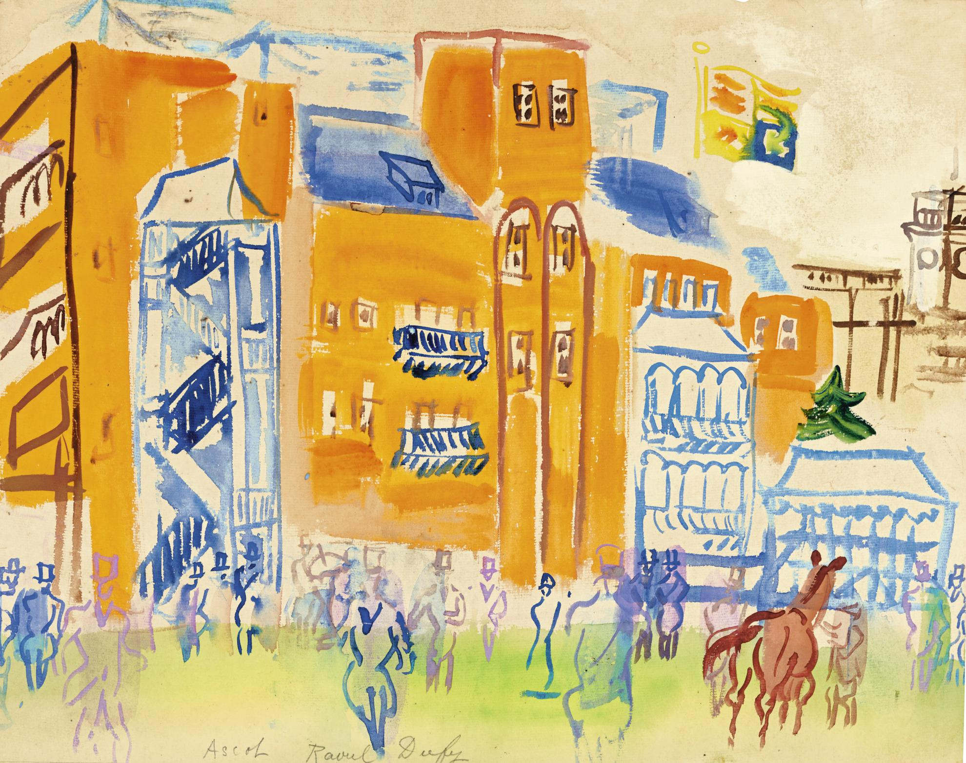 Raoul Dufy-Ascot, Les Tribunes-