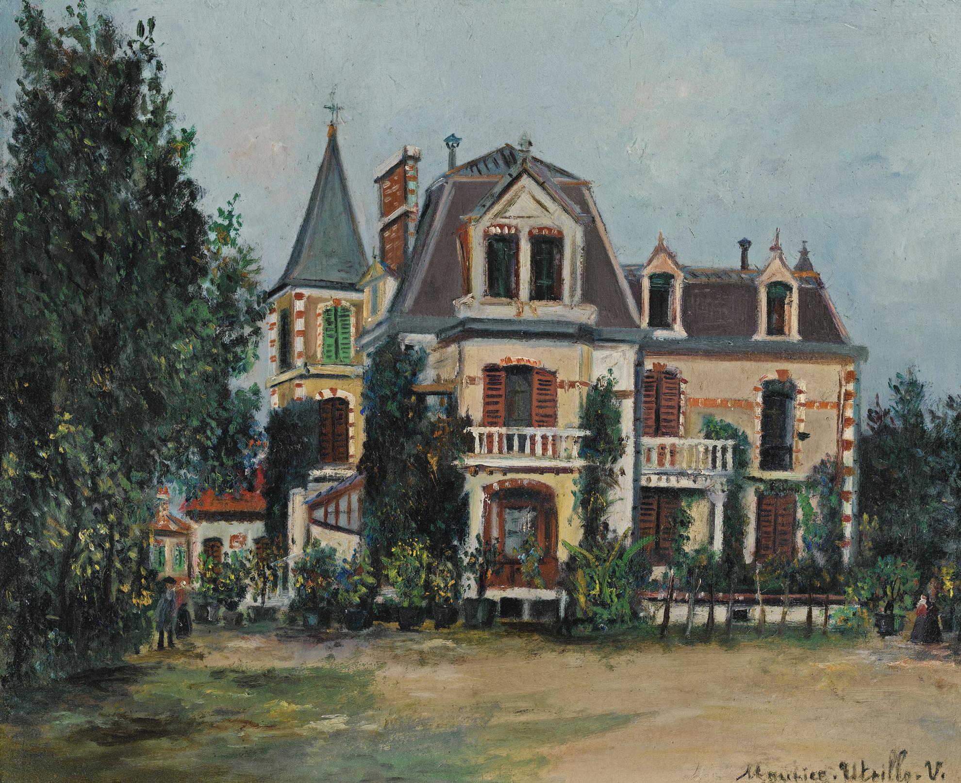 Maurice Utrillo-Le Chateau Or La Villa Dans Un Parc-1920