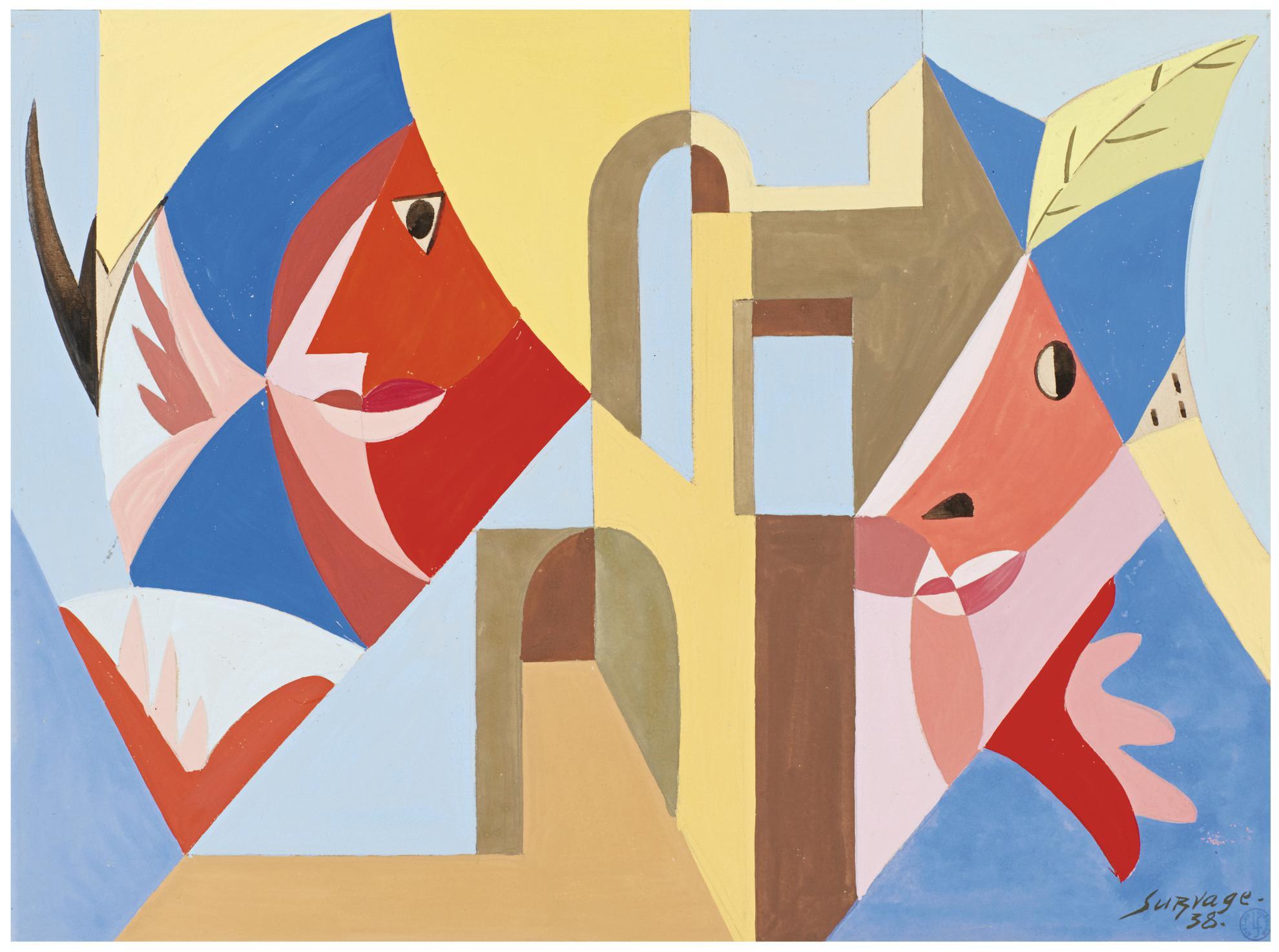 Leopold Survage-Ville-1938