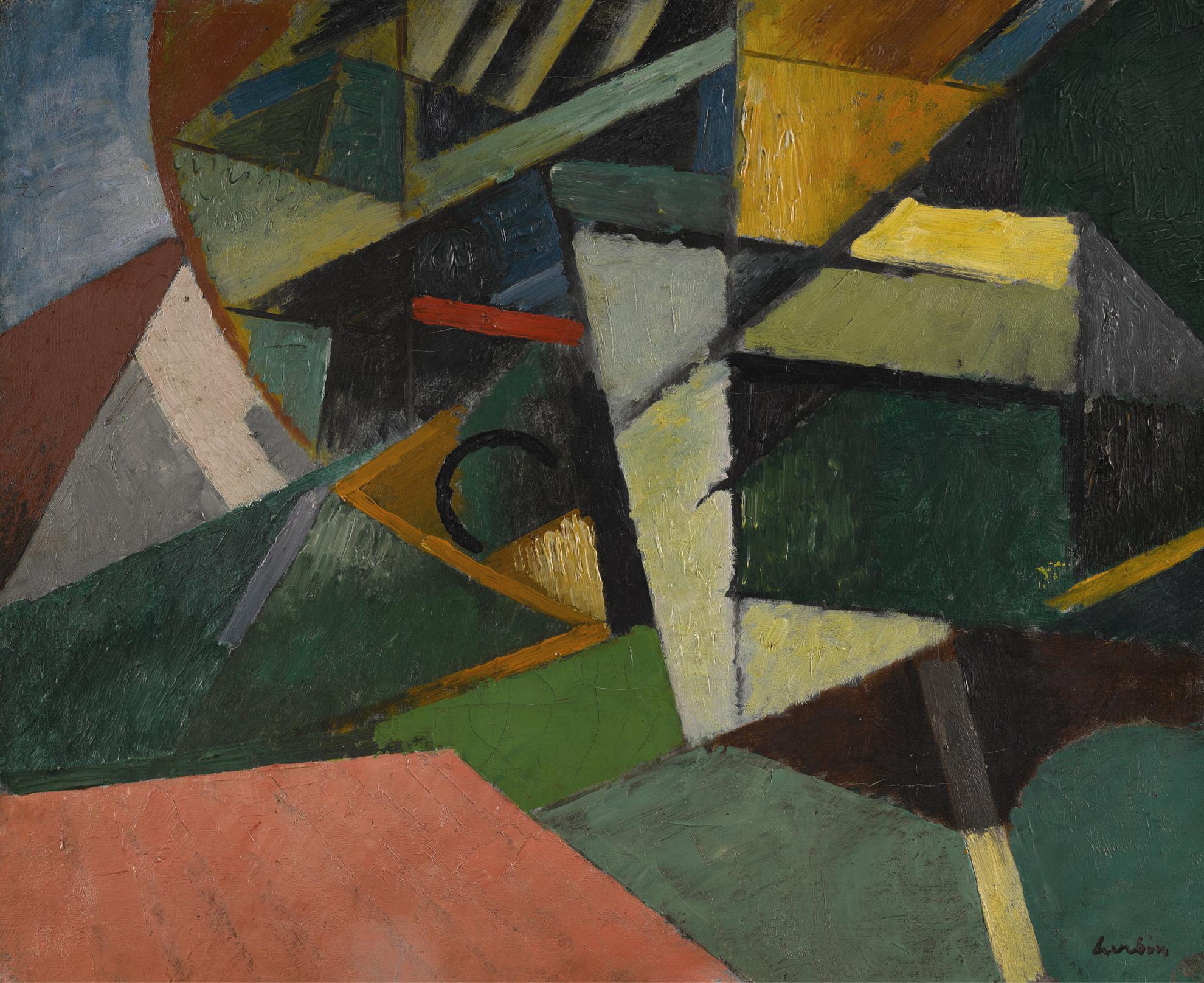 Auguste Herbin-Chene-Liege (Etude)-1913