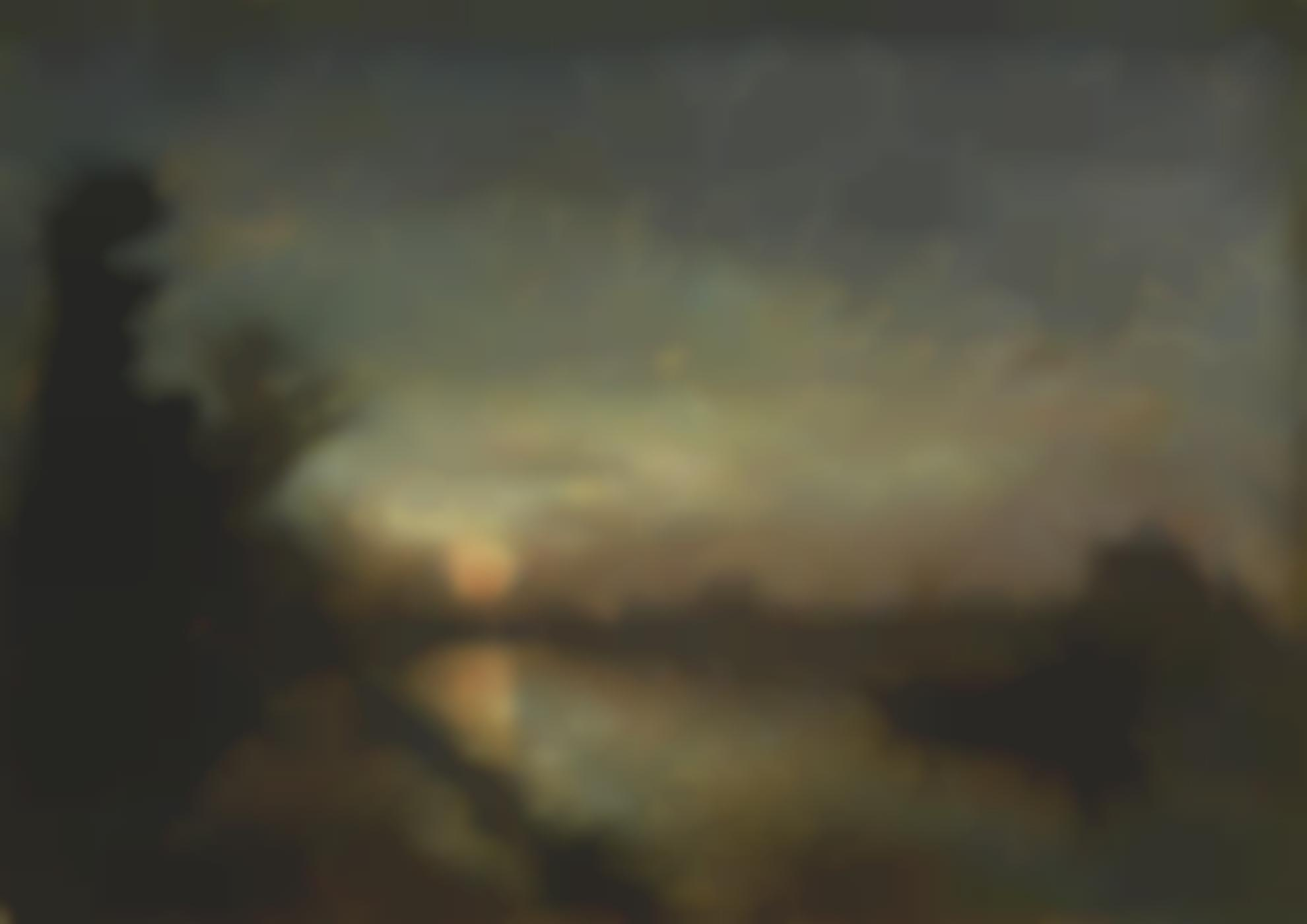 Johan Barthold Jongkind-Le Canal Au Coucher Du Soleil, Hollande-1872