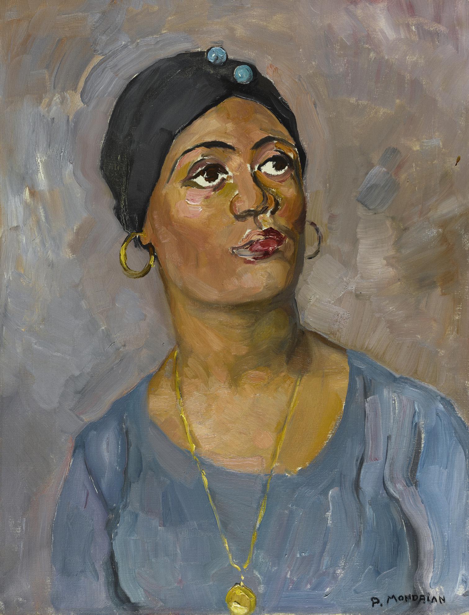 Piet Mondrian-Portrait Of Sibbetje-1930