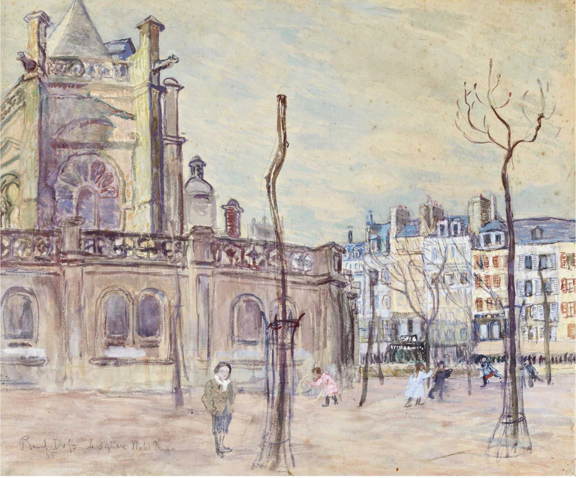 Raoul Dufy-Le Square Notre-Dame-1905