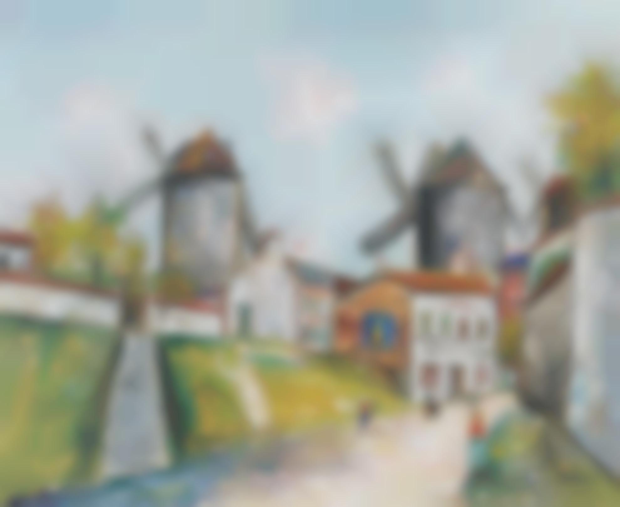 Maurice Utrillo-Les Trois Moulins, Montmartre-1952