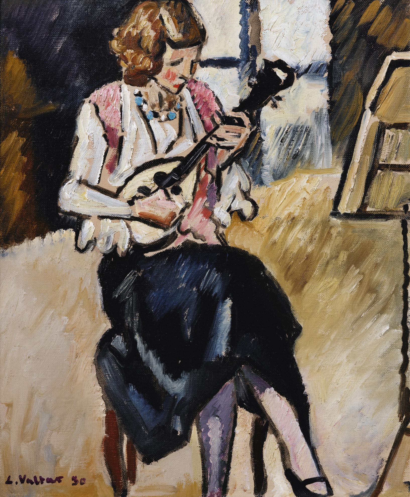Louis Valtat-Femme Jouant De La Mandoline-1930