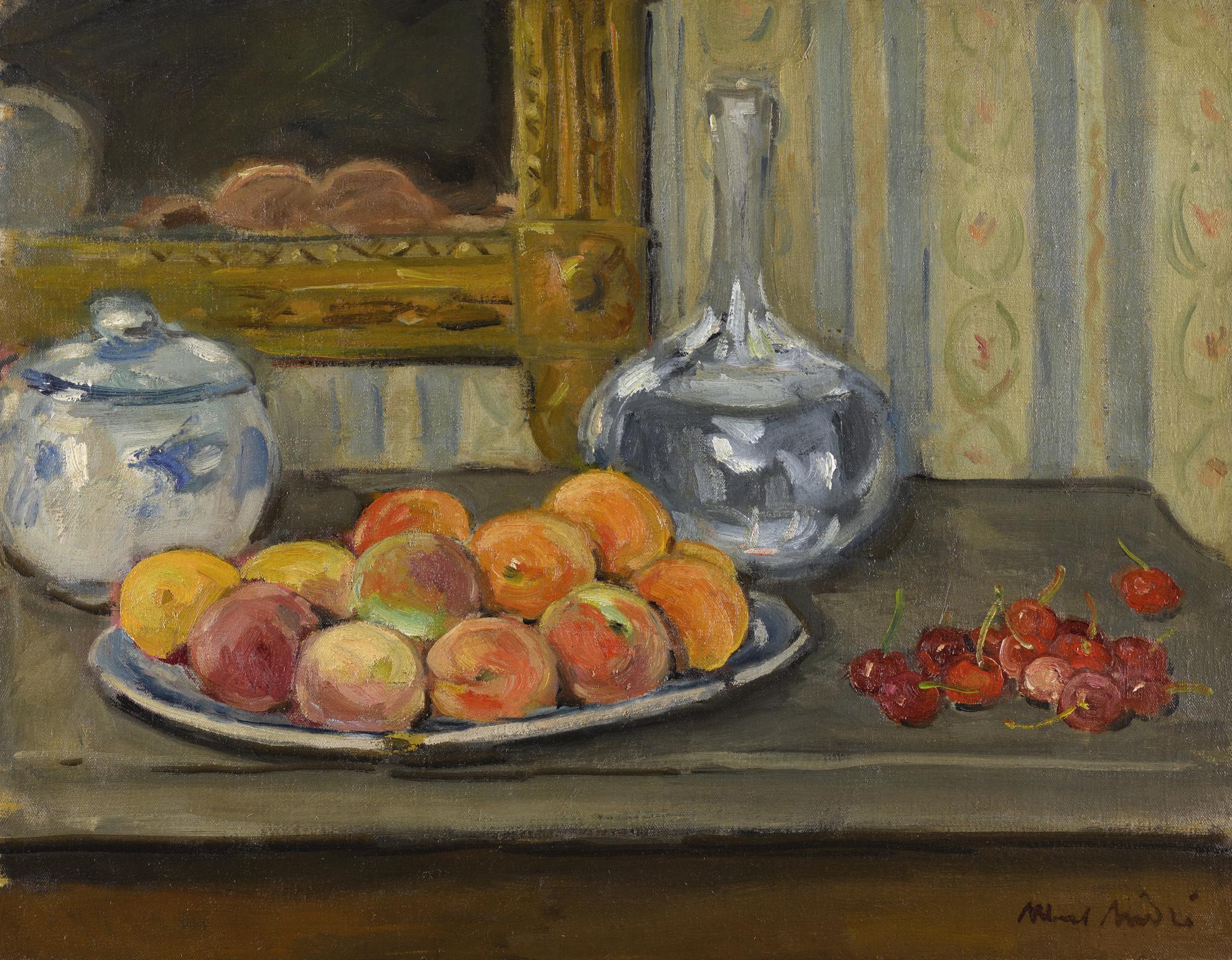 Albert Andre-Abricots Et Cerises-1936