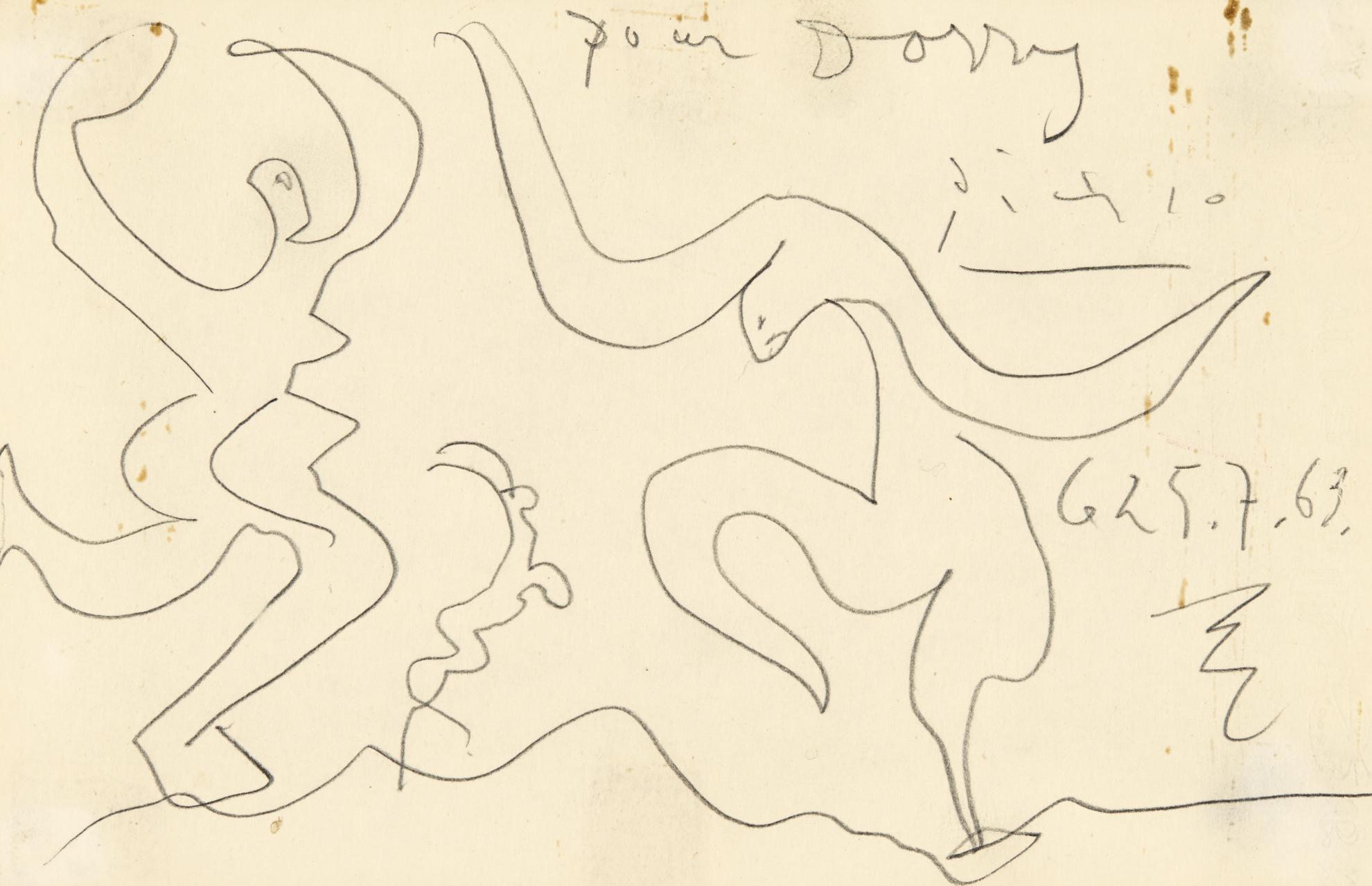 Pablo Picasso-Deux Danseurs-1963