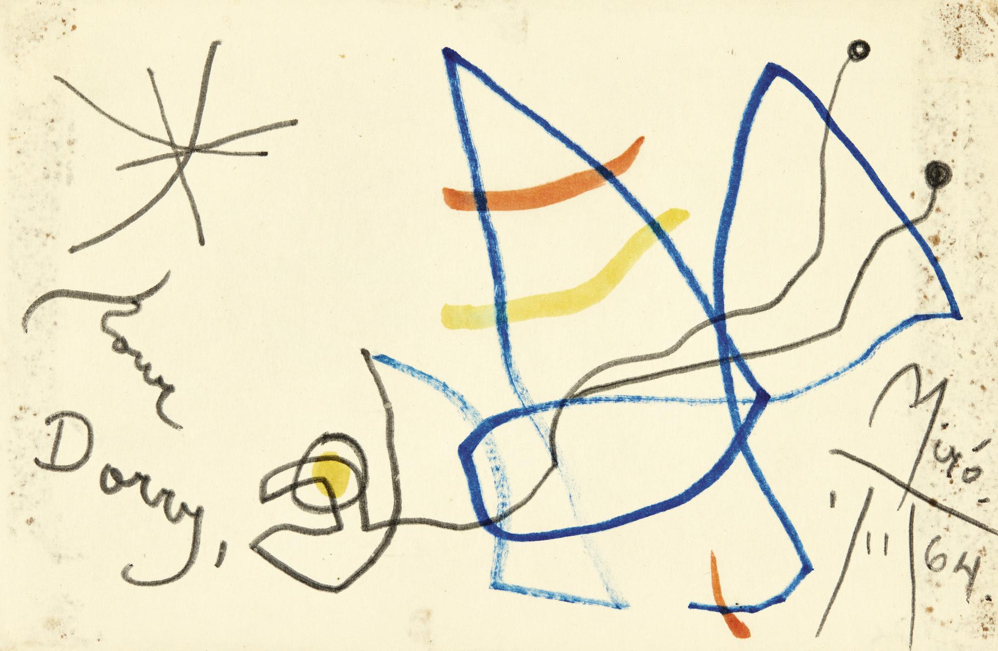 Joan Miro-Sans Titre (Dessin Pour Dorry)-1964