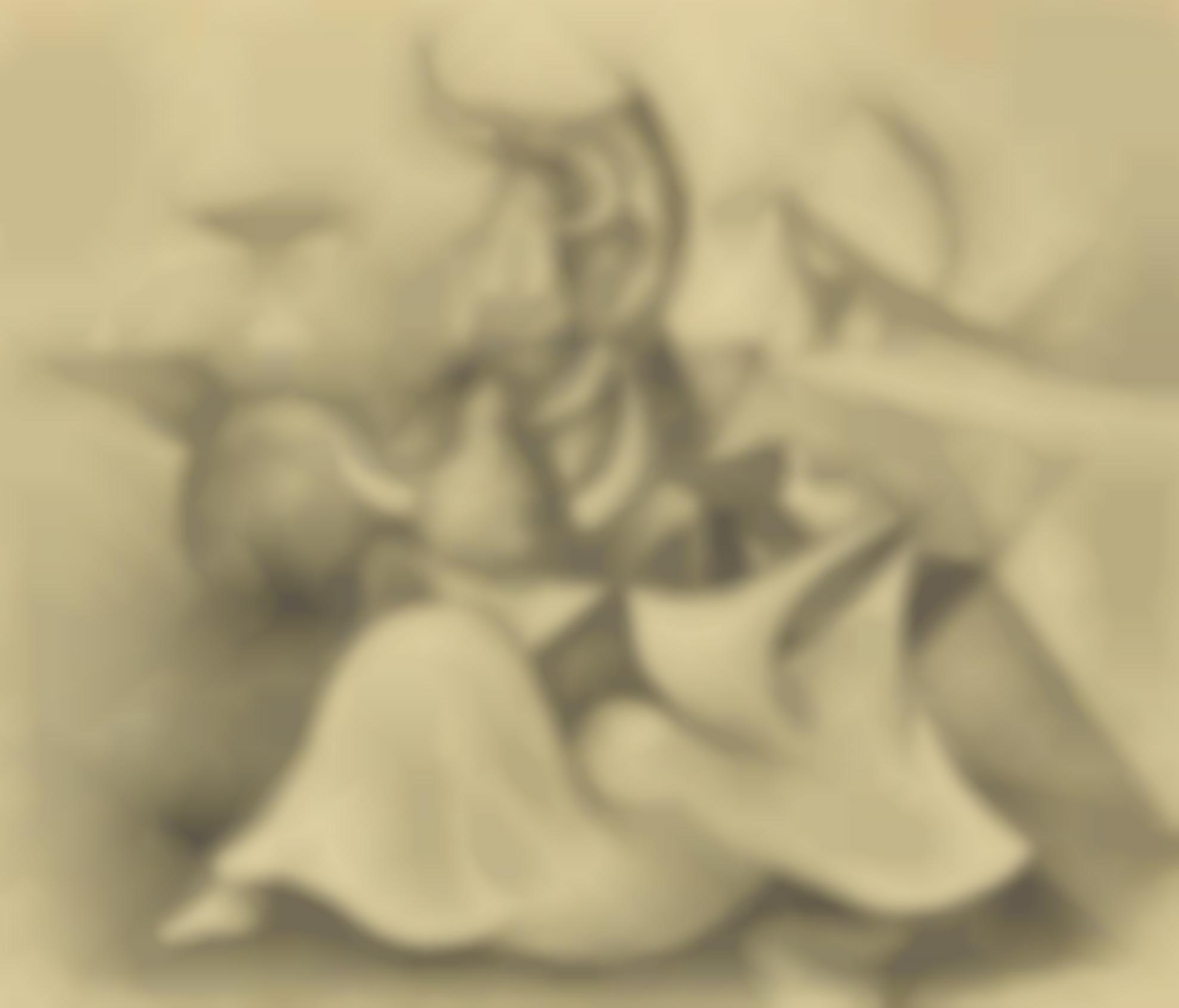 Oscar Dominguez-Toro Y Mujeres (Bull And Women)-1943