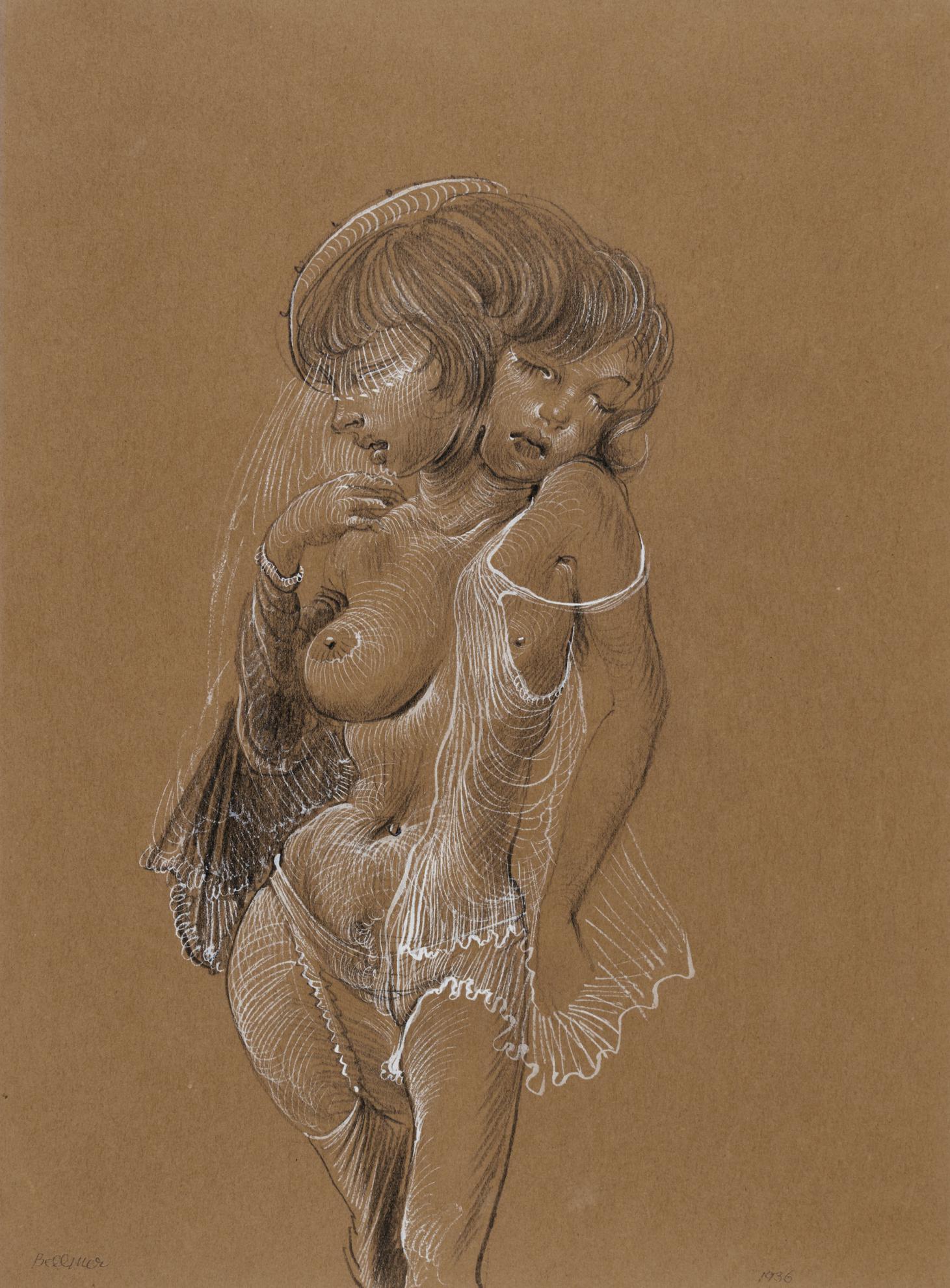 Hans Bellmer-Nu A La Feuille-1936