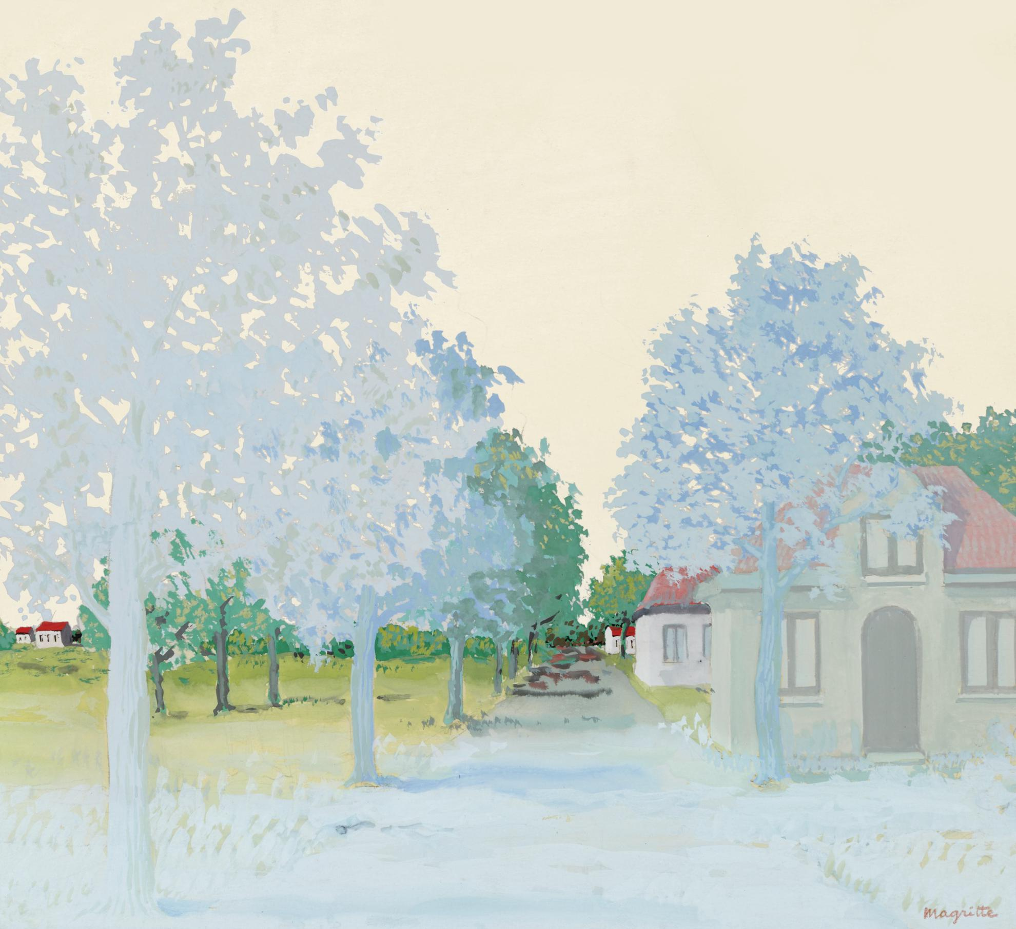 Rene Magritte-Le Traite Du Paysage-1943