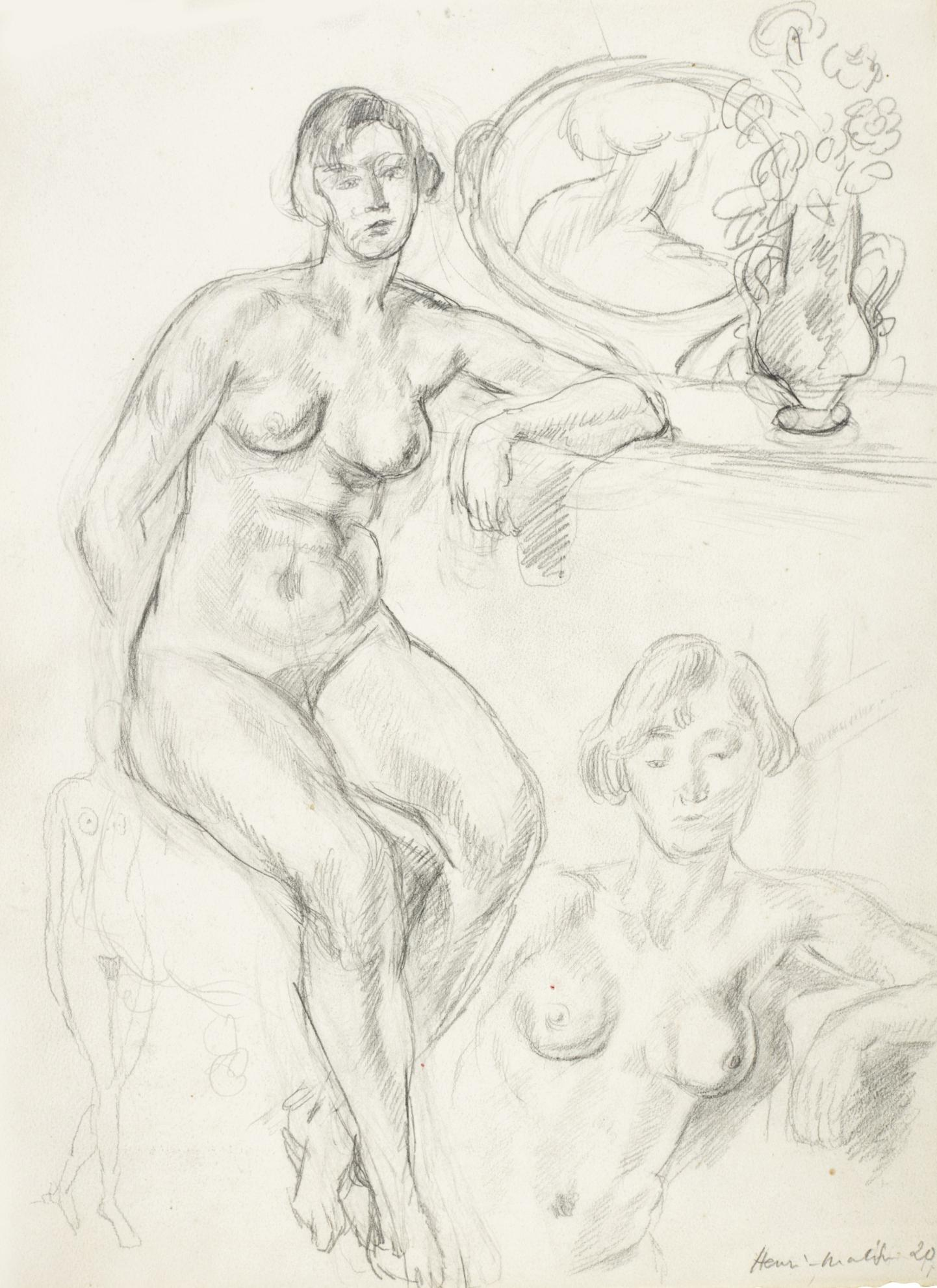 Henri Matisse-Etude De Nus-1920