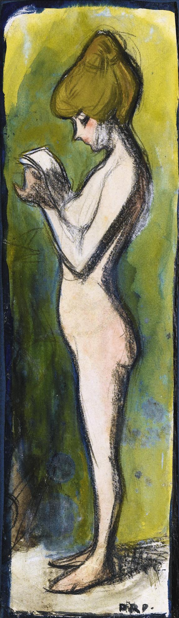 Pablo Picasso-Jeune Fille Nue De Profil-1899