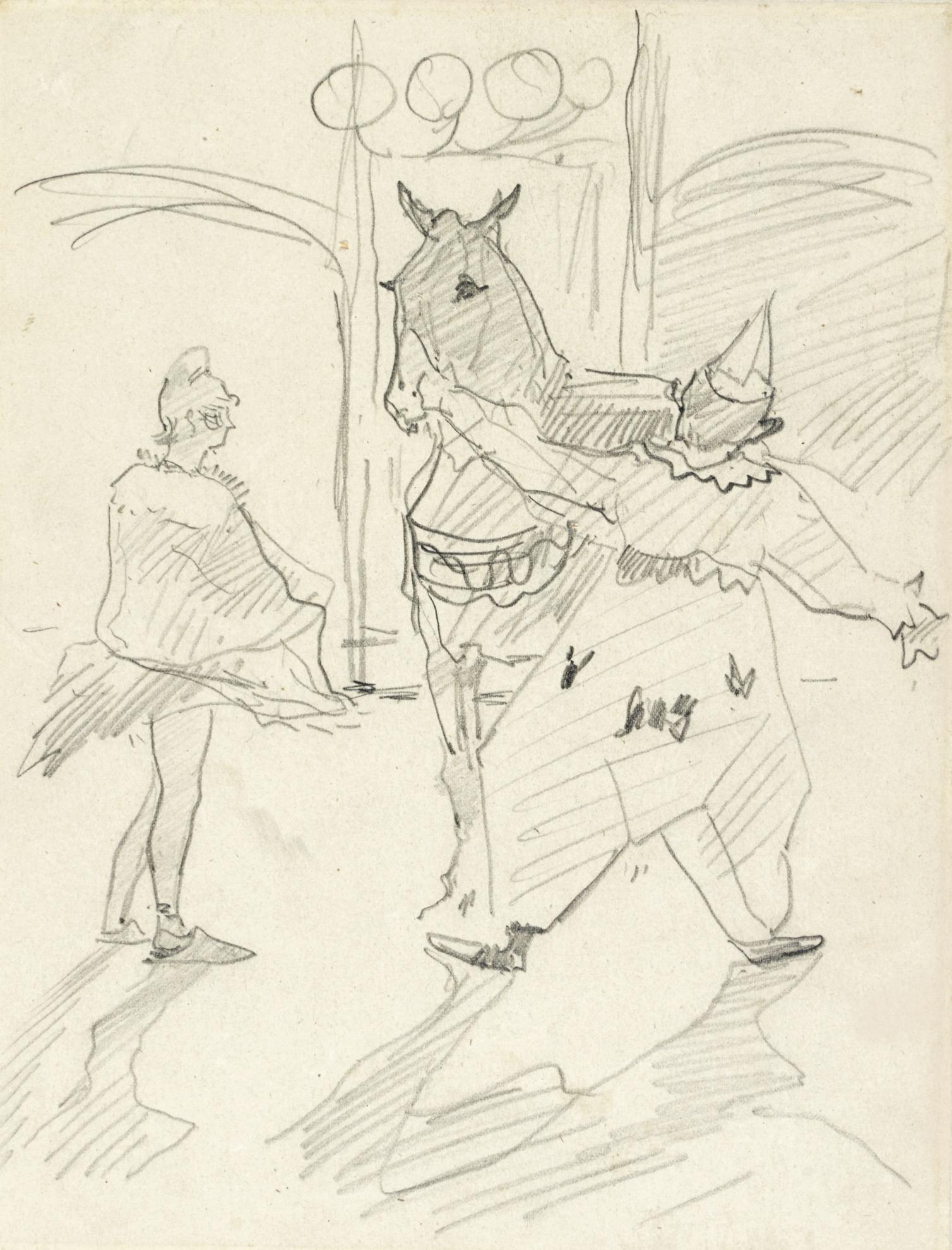 Henri de Toulouse-Lautrec-Au Cirque: Dans Les Coulisses-1888