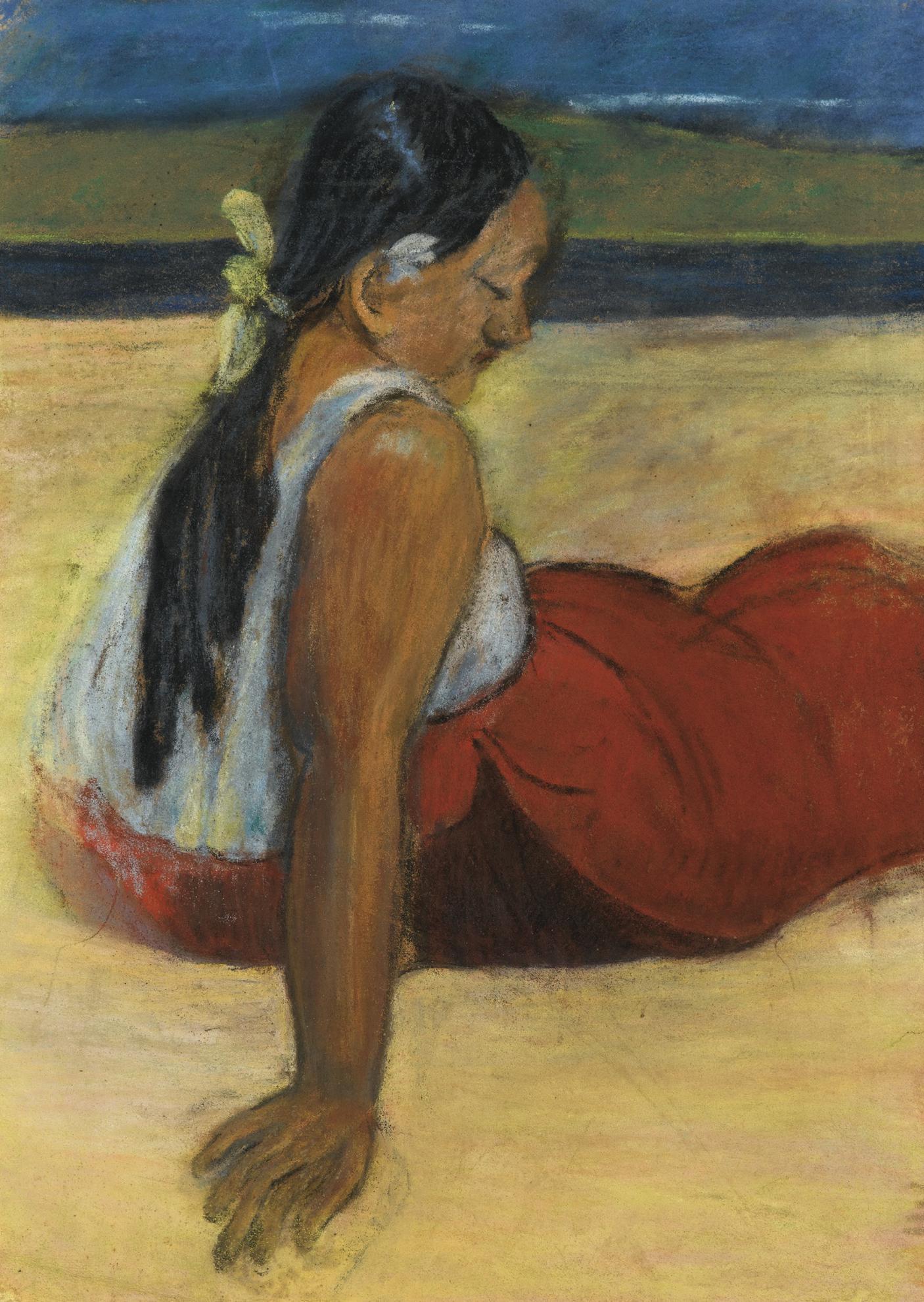 Paul Gauguin-Tahitienne Assise-1893