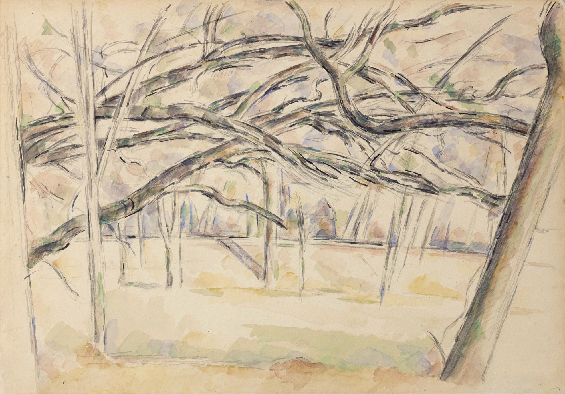Paul Cezanne-Le Verger-1895