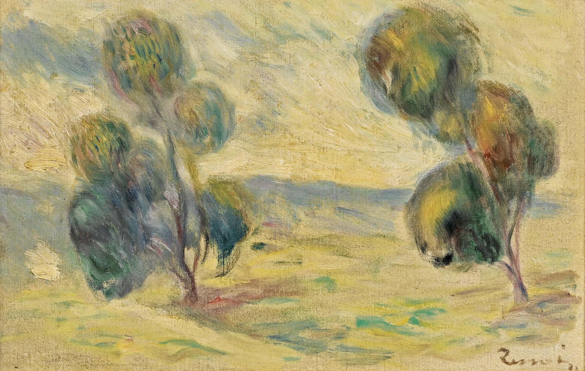 Pierre-Auguste Renoir-Paysage - Fragment-