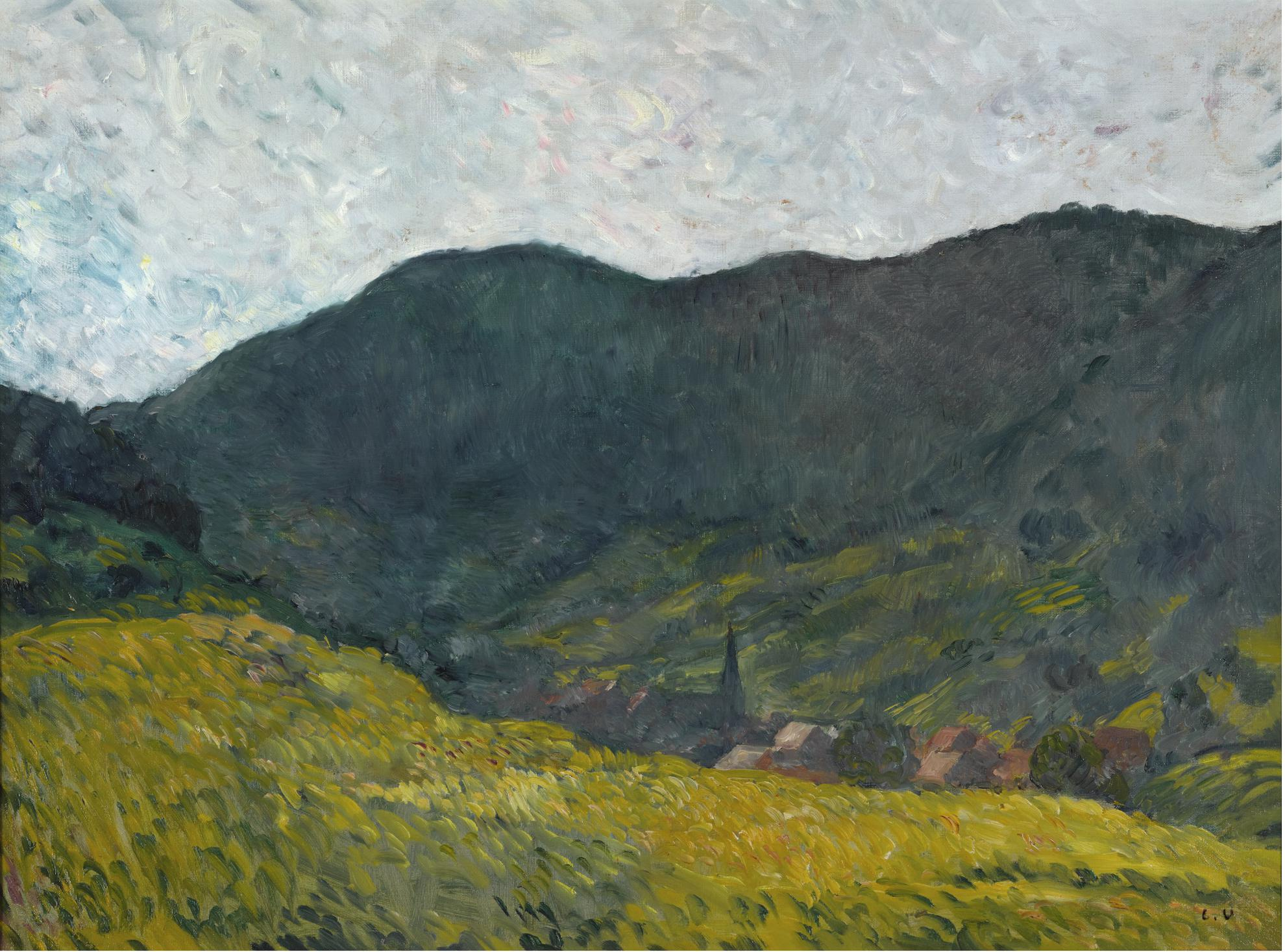 Louis Valtat-Le Village Dans La Vallee-1900
