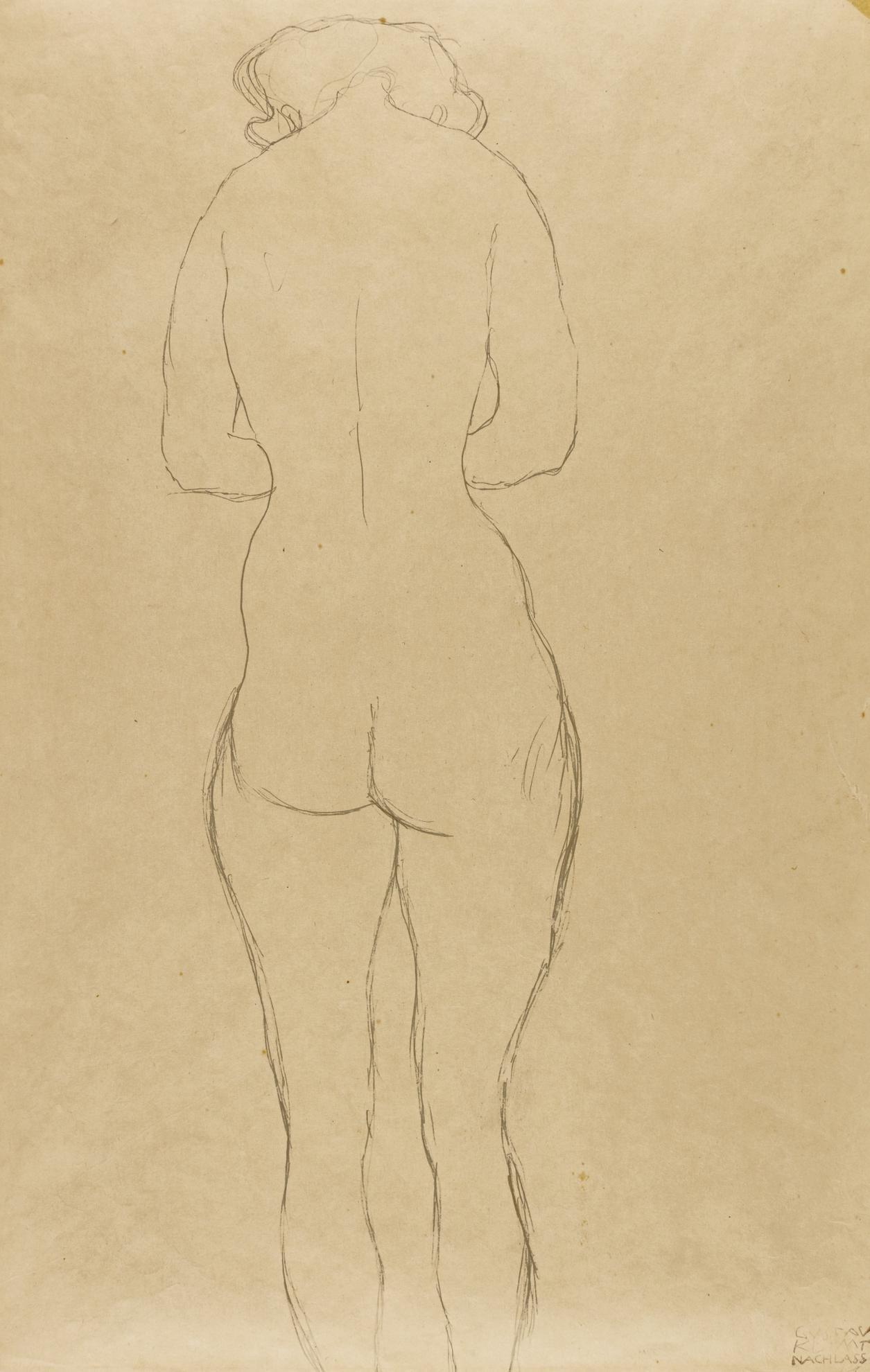 Gustav Klimt-Akt (Nude)-1917