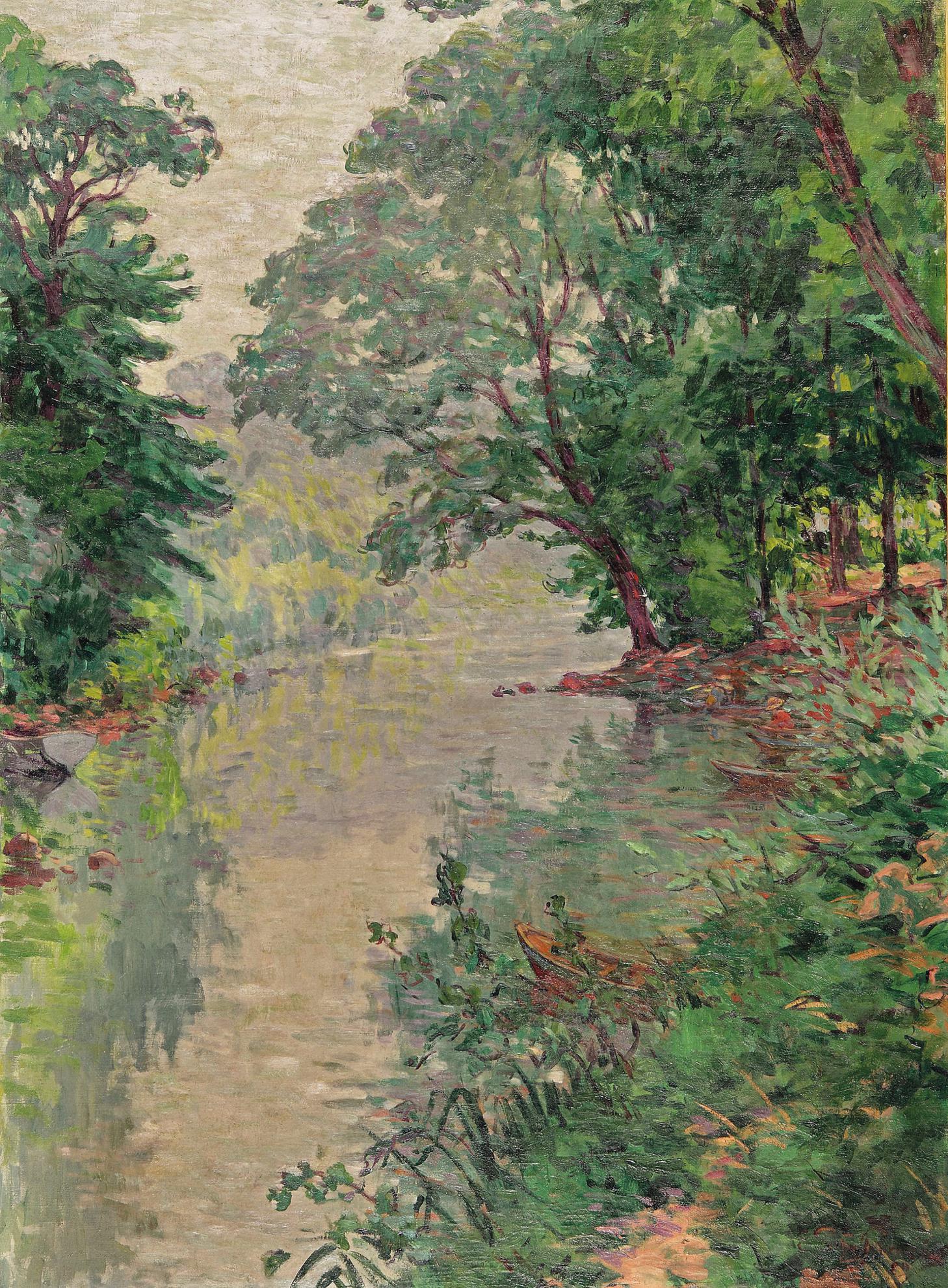 Emile Schuffenecker-Ruisseau Dans La Foret-