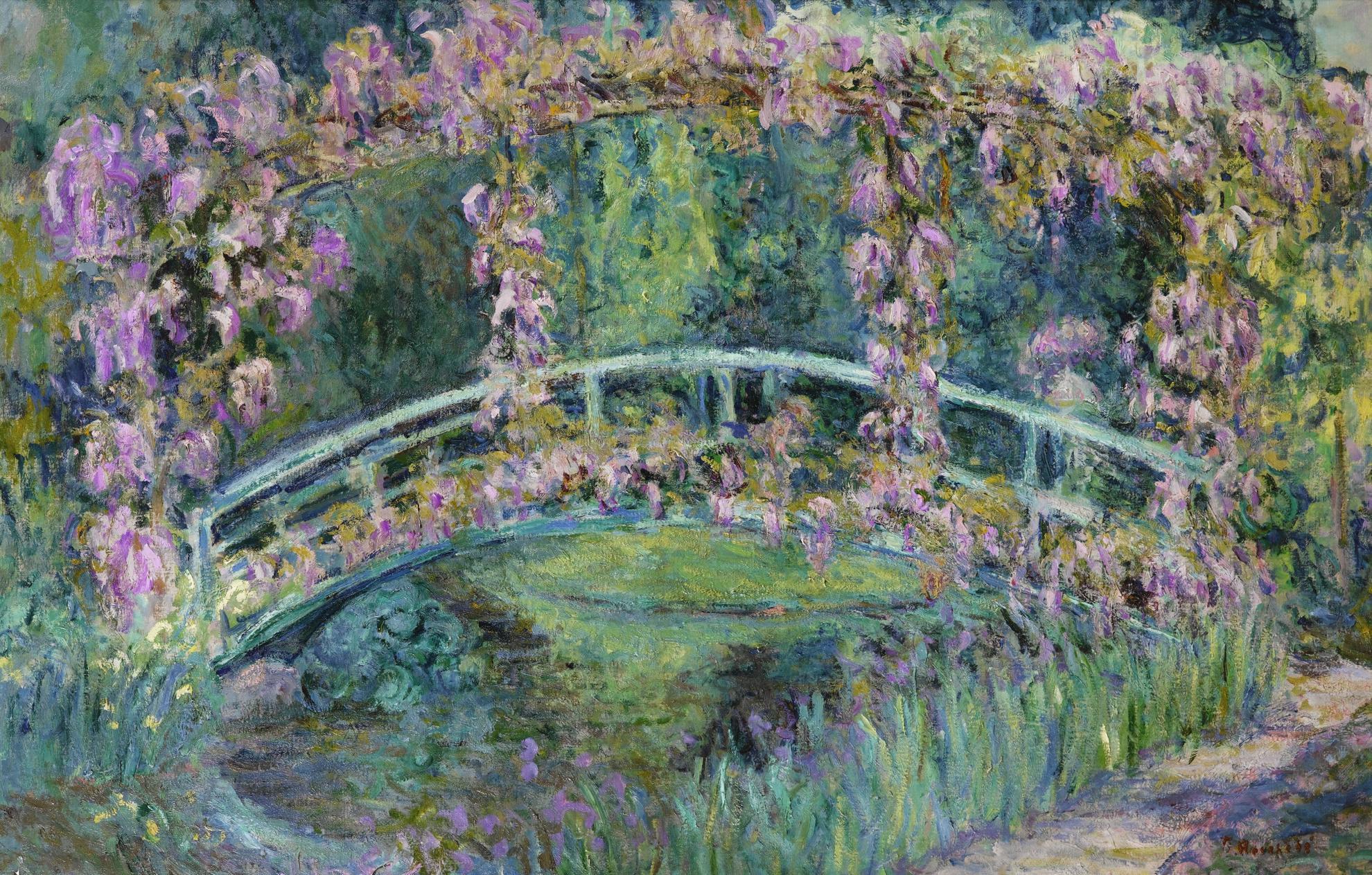 Blanche Hoschede-Monet - Le Pont Japonais, Jardin De Claude Monet-