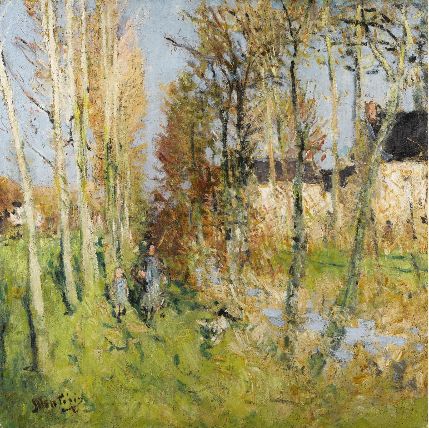 Pierre Eugene Montezin-Sur Les Bords Du Ruisseau-1942