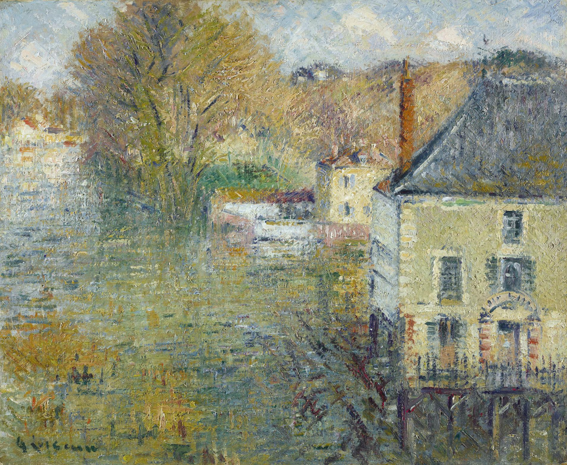 Gustave Loiseau-Inondation A Giverny-1935