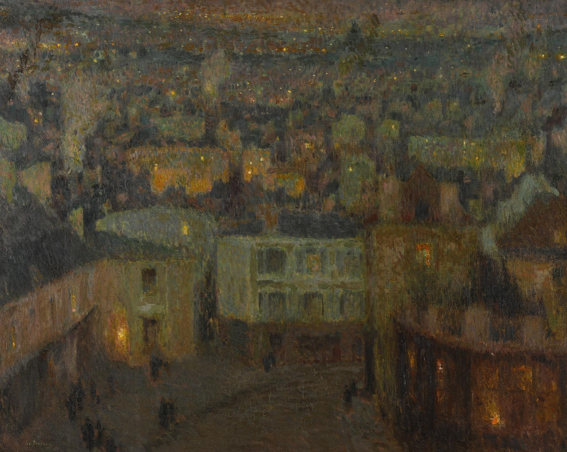 Henri Eugene Le Sidaner-Les Faubourgs-1909