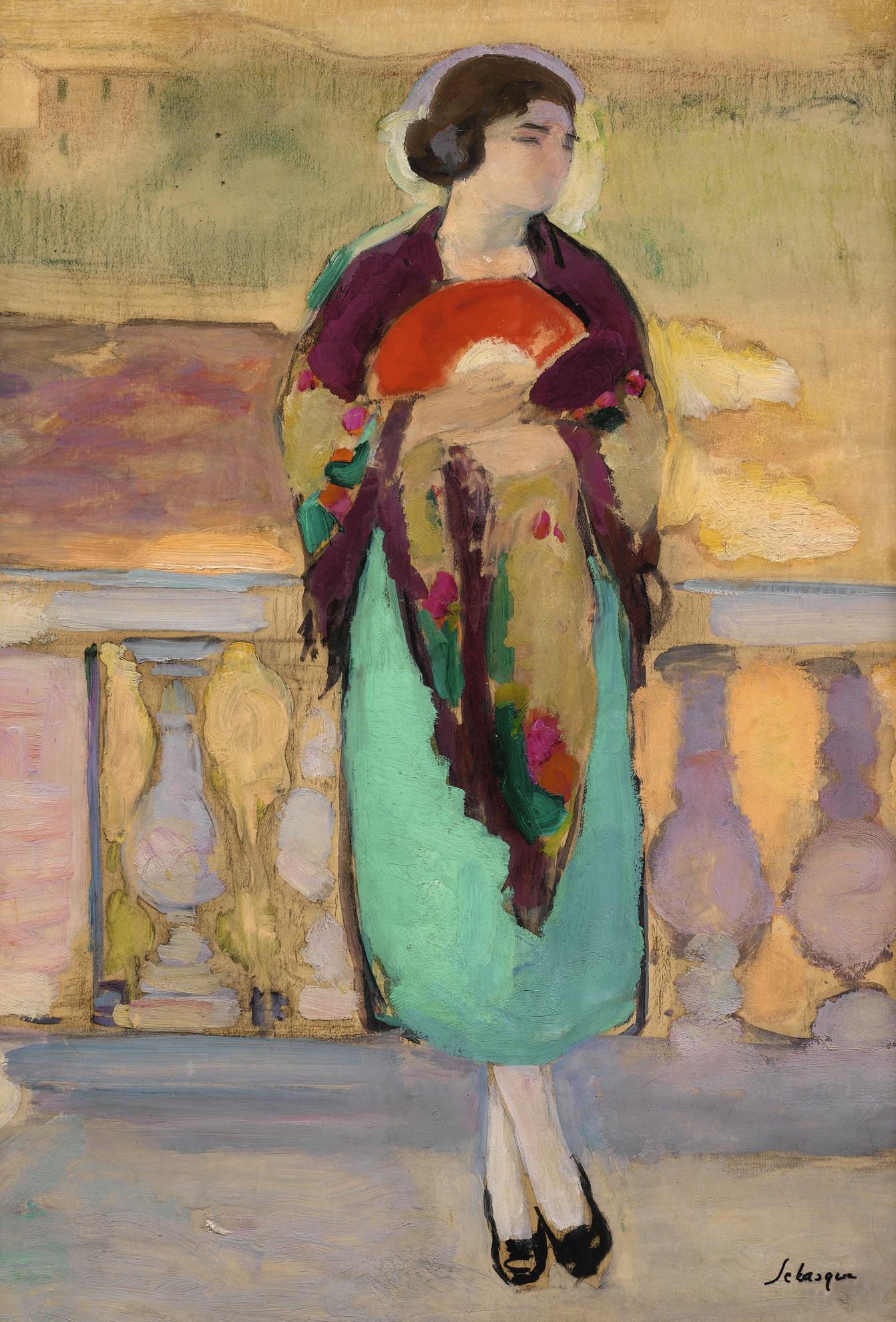Henri Lebasque-Jeune Femme A L'Eventail-1924