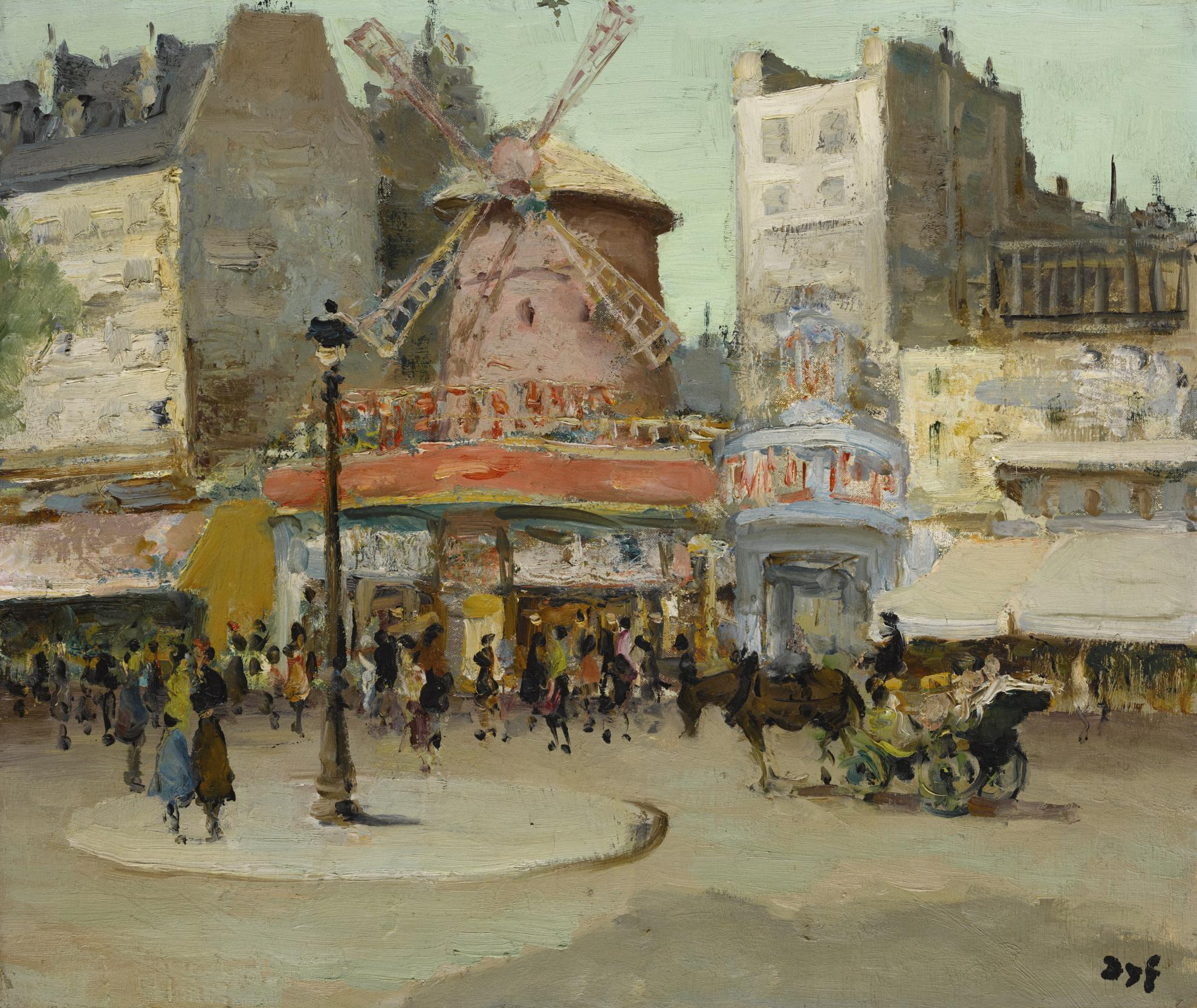 Marcel Dyf-Le Moulin Rouge, Paris-1955