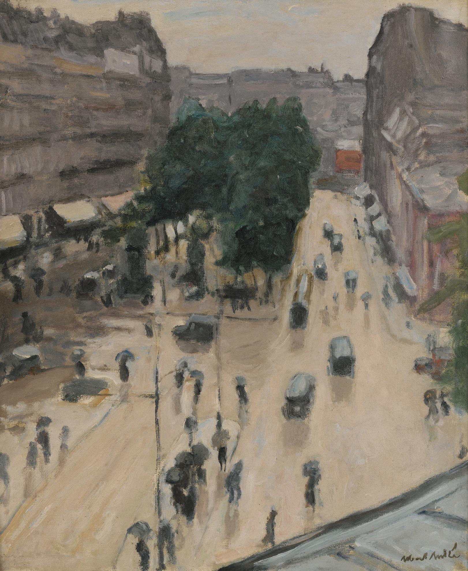 Albert Andre-Place Pigalle, Pluie-1922